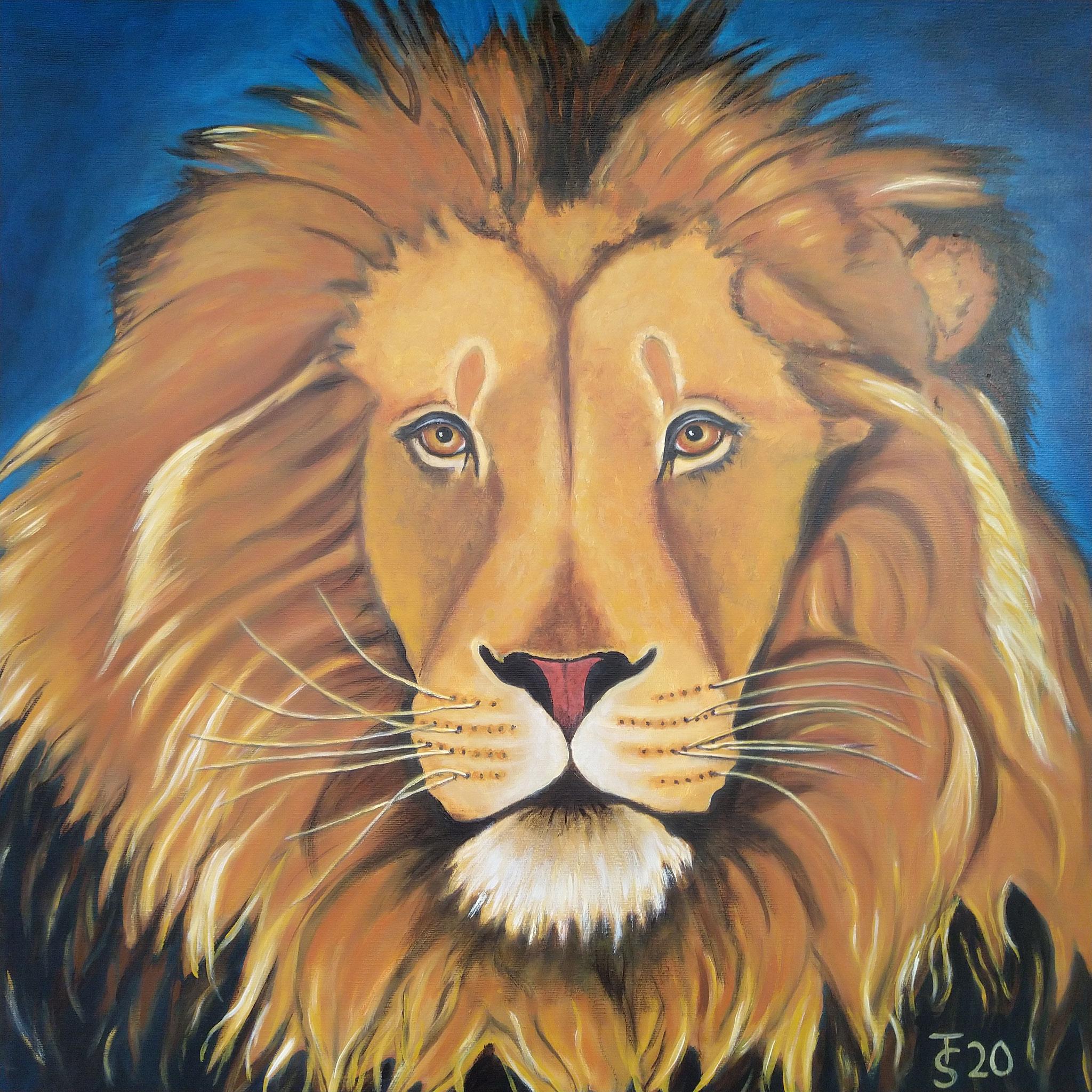 Löwenherz  _  (Acryl auf Leinwand, 70 x 70 cm)