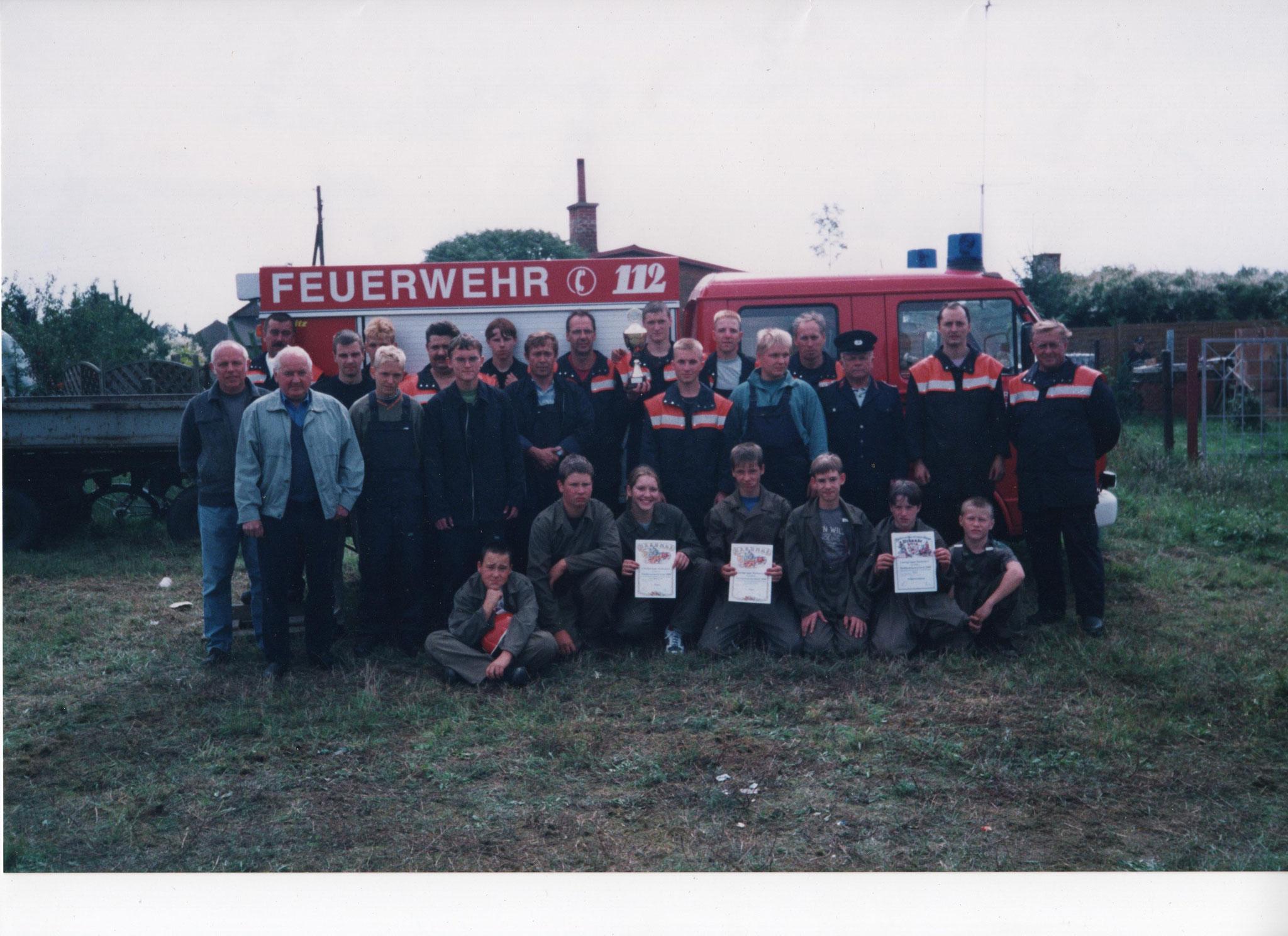Stadtpokal 2000 Platz 1 Jugend B, Platz 3 Jugend A, Platz 4 Männer