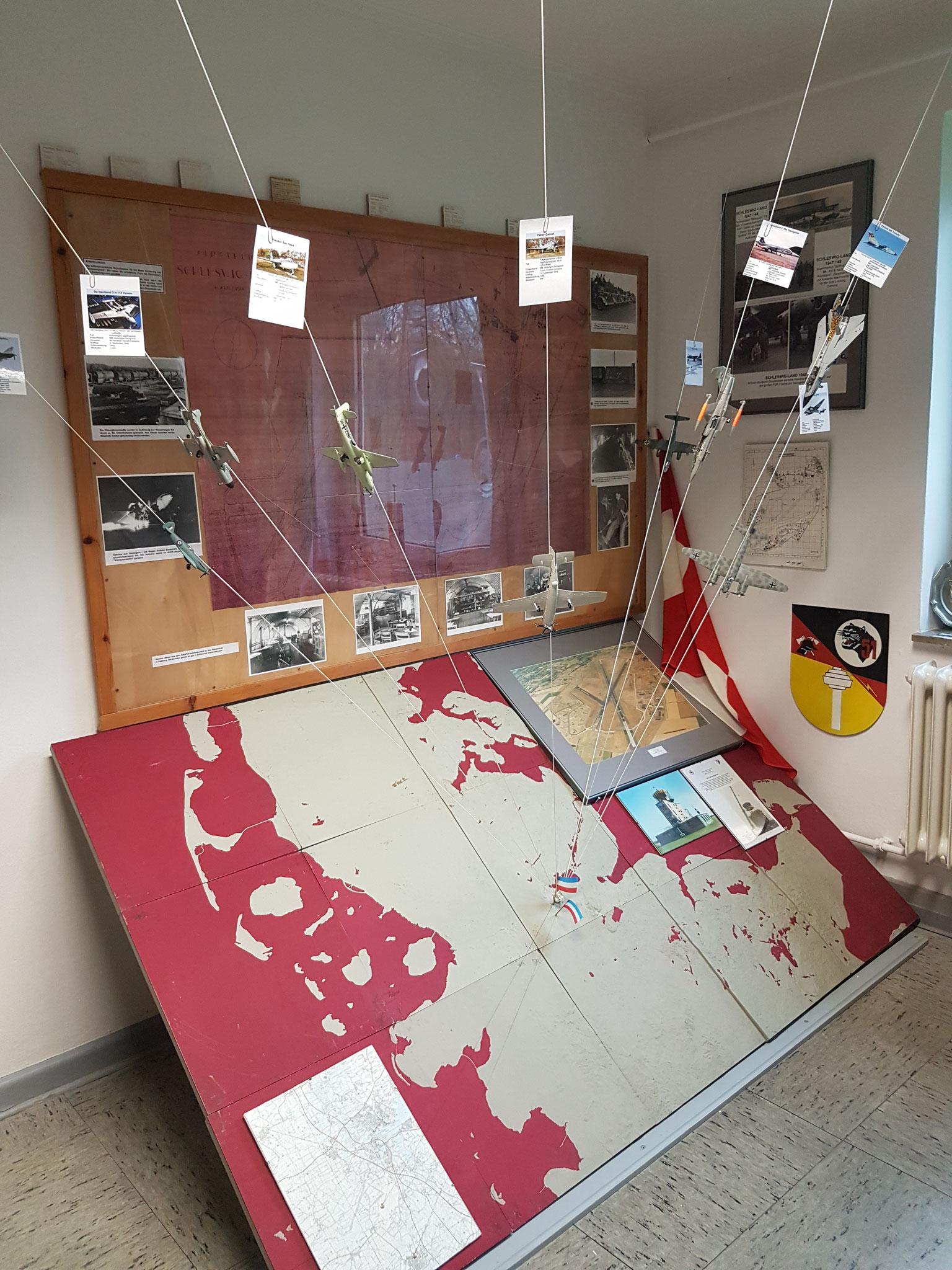 Ausstellungsabschnitt 4 - Der Flugplatz Schleswig-Land