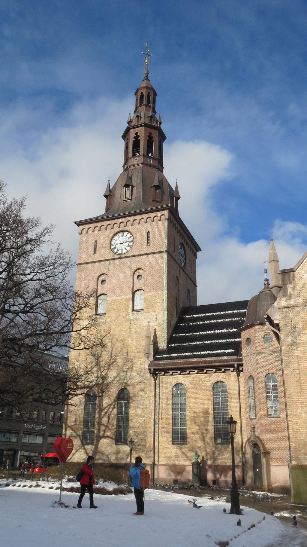 Oslo Domkirke von außen ...