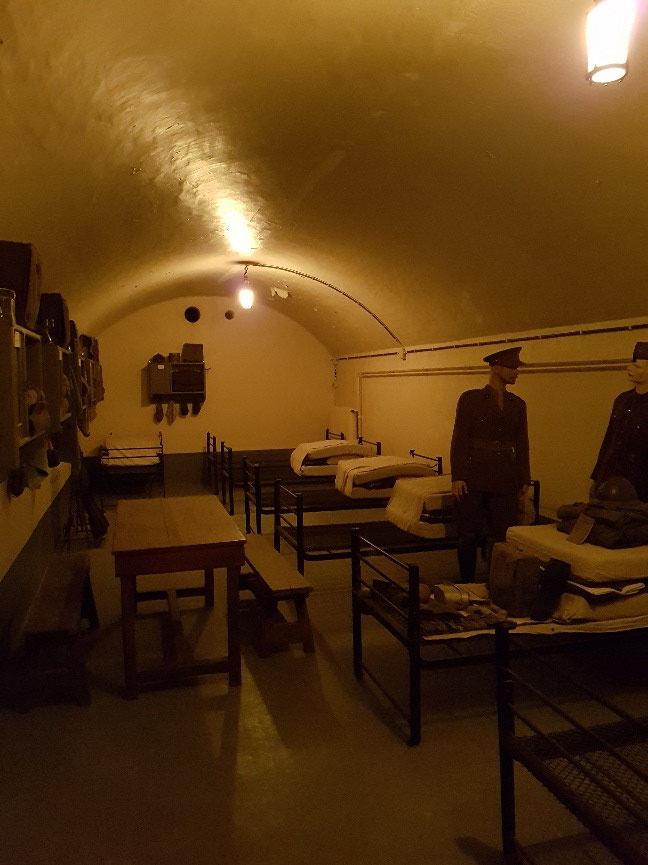 Slaapzaal voor de soldaten