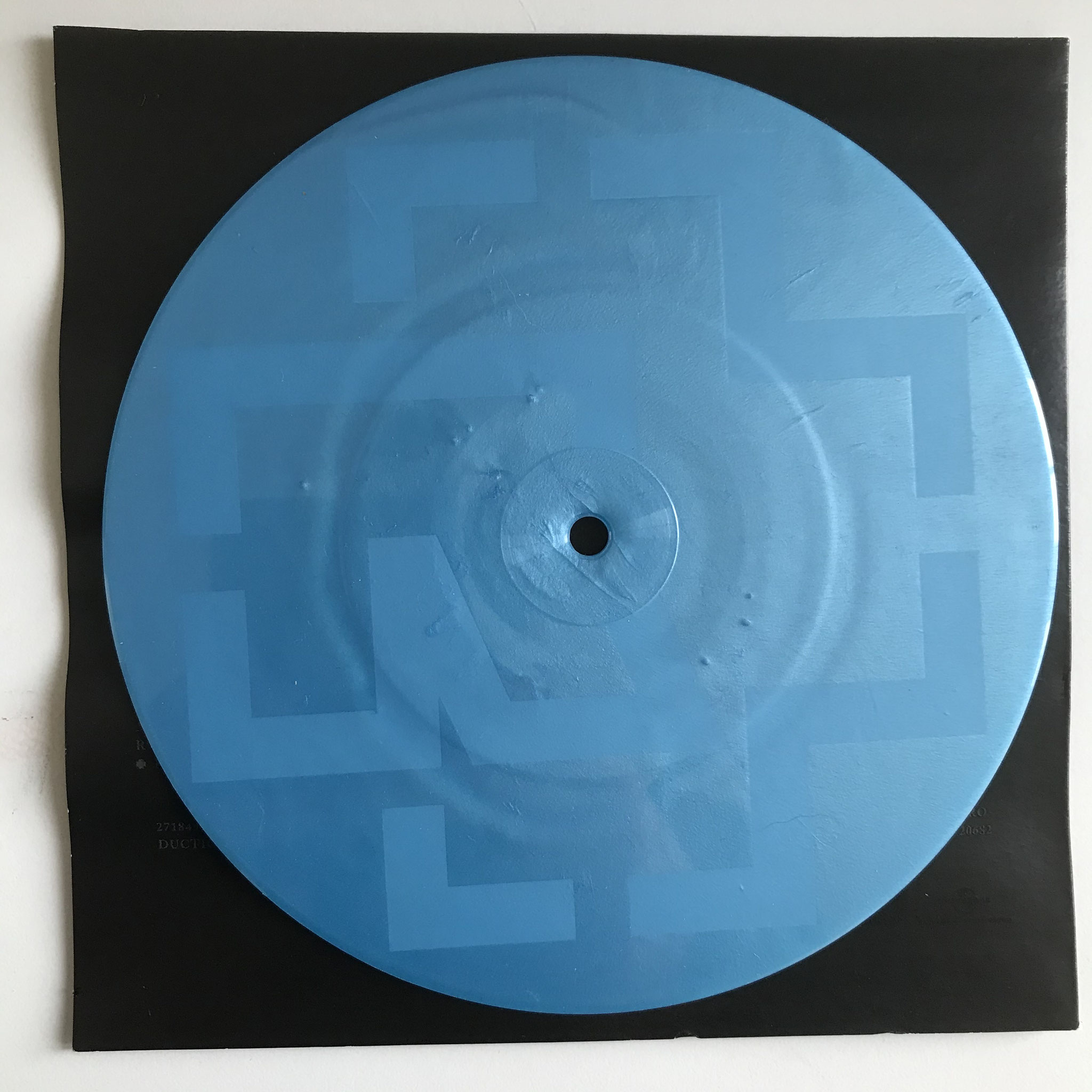 """7"""" Single Sided, Etched, Limited Edition, Numbered, Blue Viagra"""