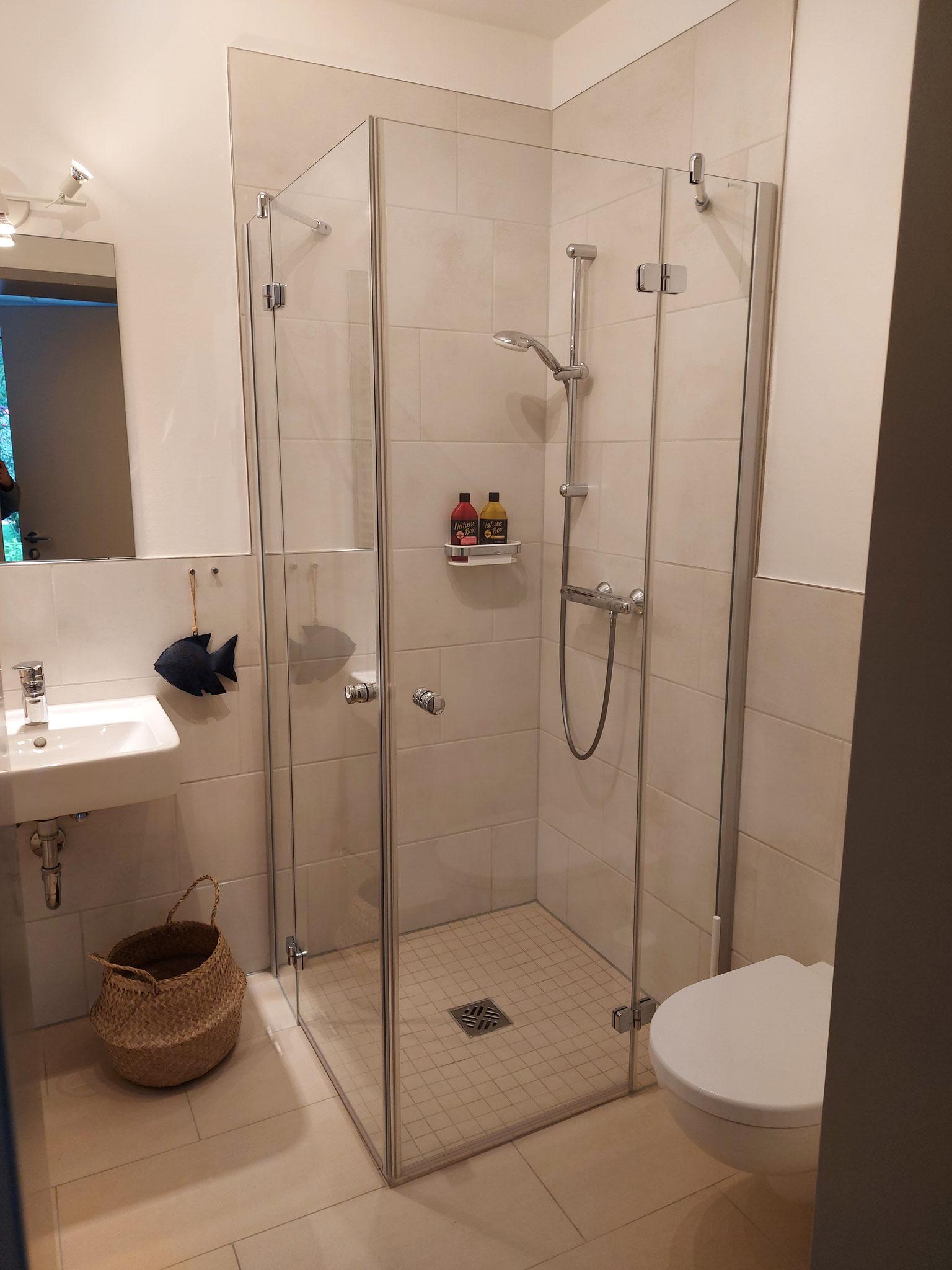Nach der Massage kannst du hier duschen