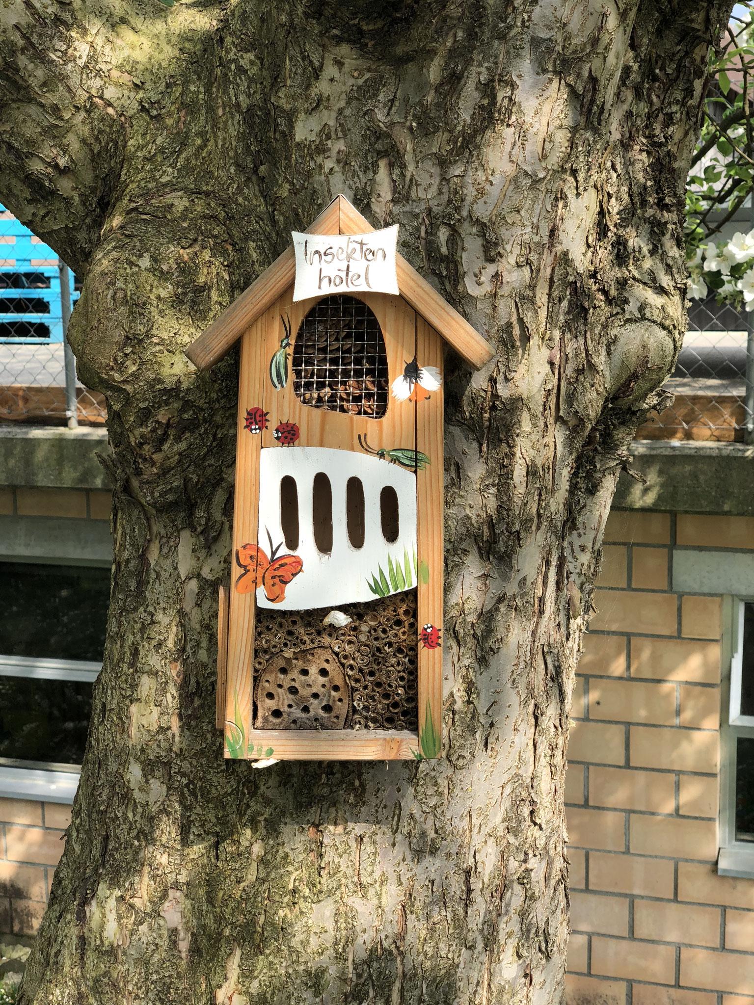 Auch kleinen Insekten bieten wir ein zu Hause