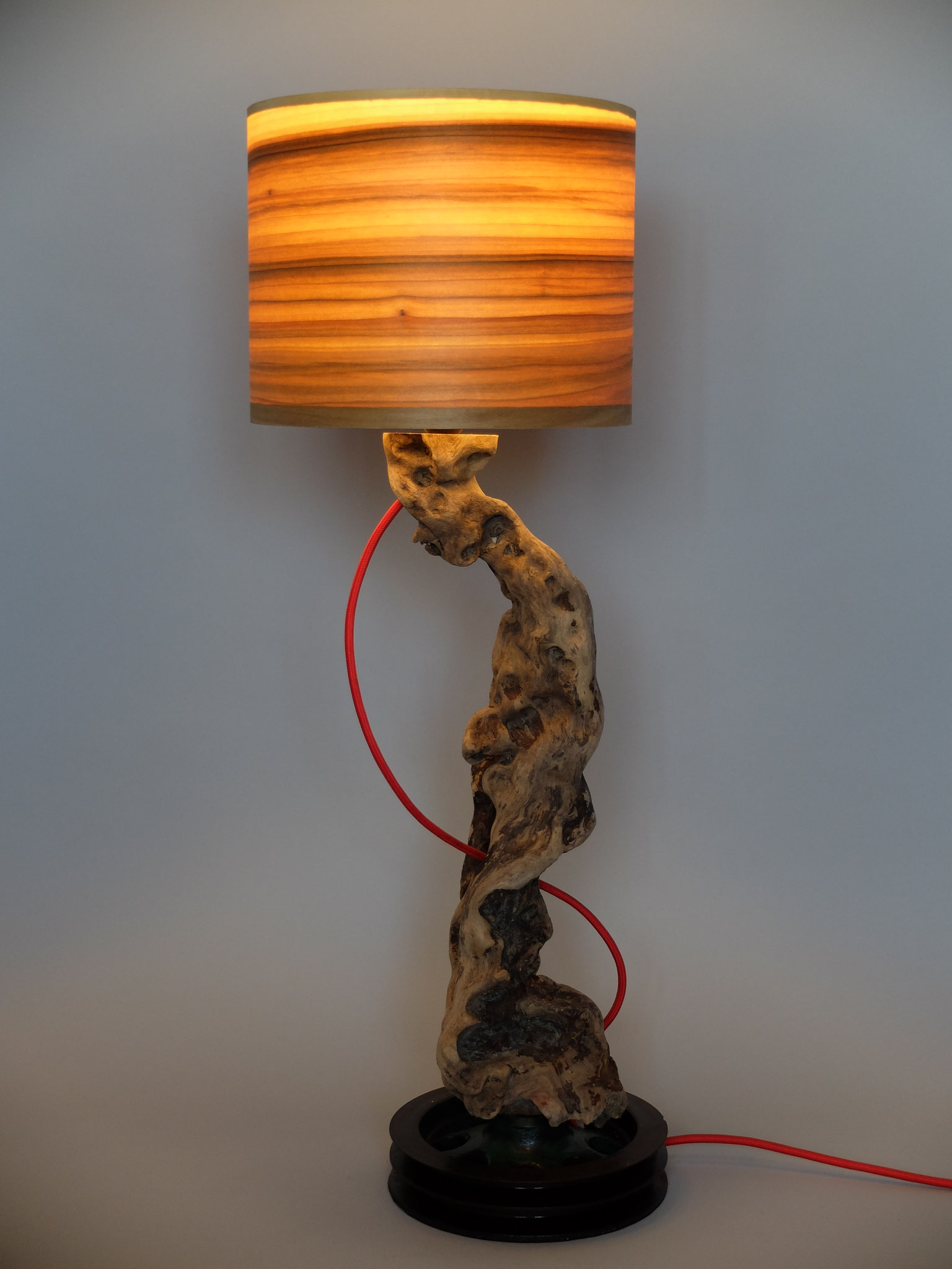 Upcycling Tischlampe Caliga