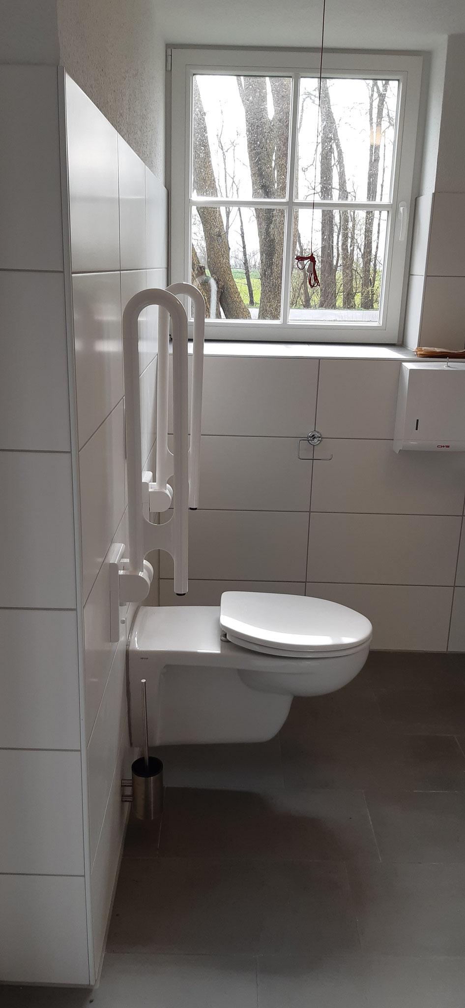 WC unten ( Behindertengerecht umgebaut )