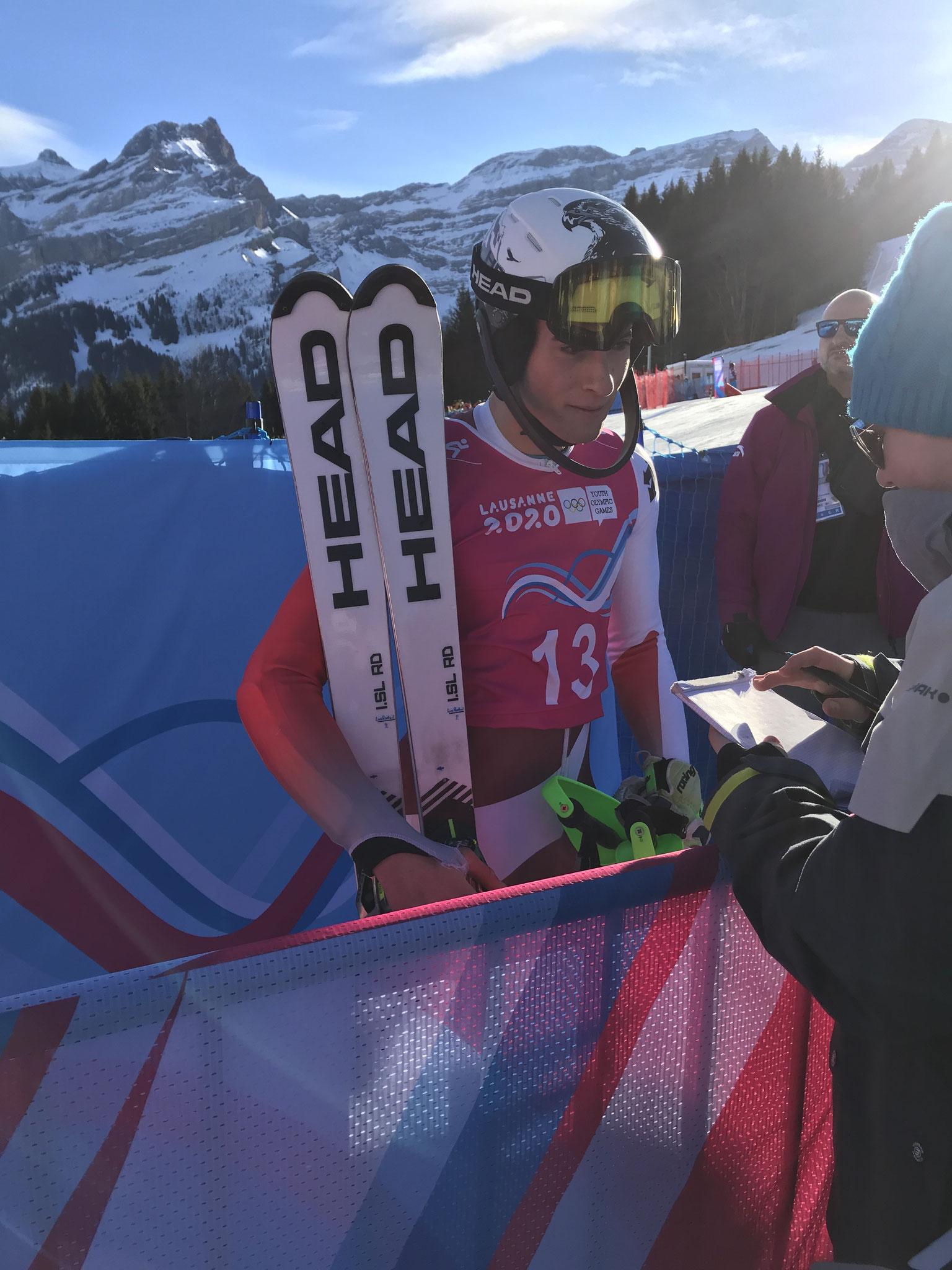Luc Roduit, deuxième au classement final