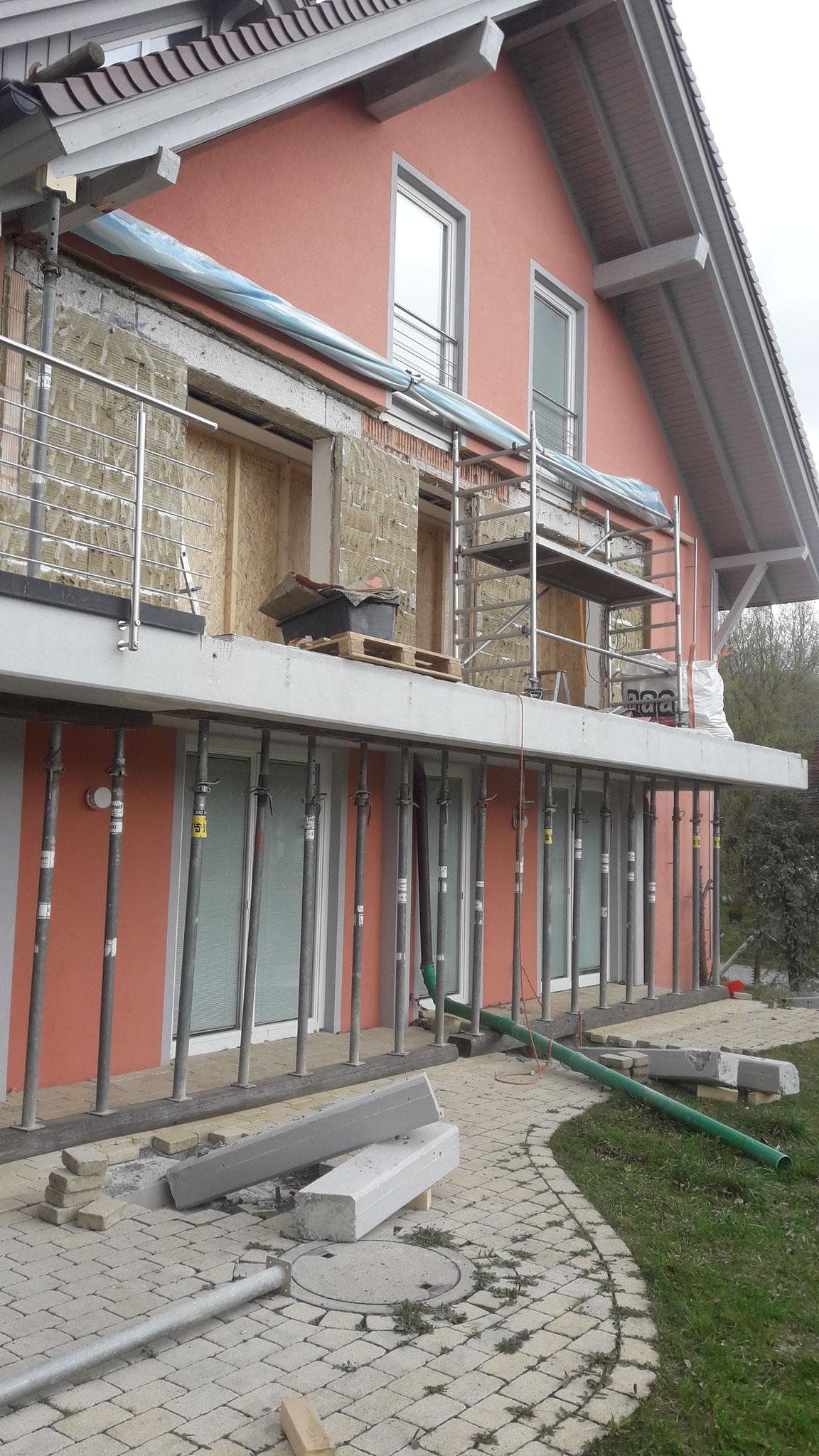 Ausbau der Fenster- und  Mauerwände