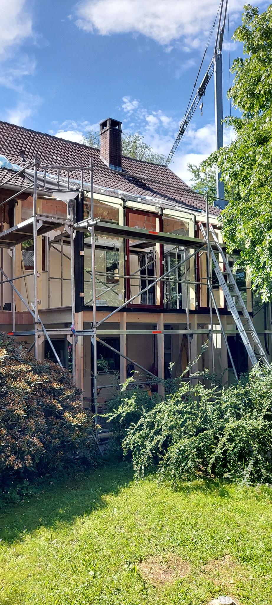 Aufbau Holzkonstruktion