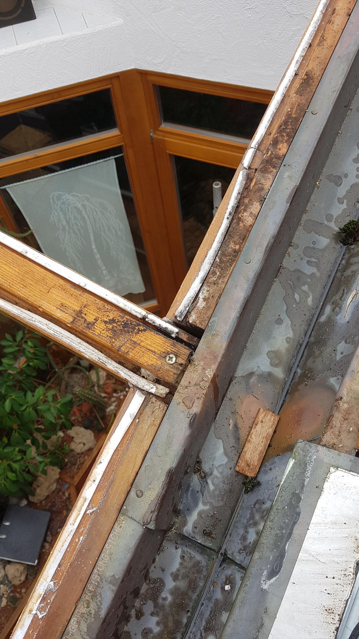 Wasserschäden durch undichte Pressleisten.