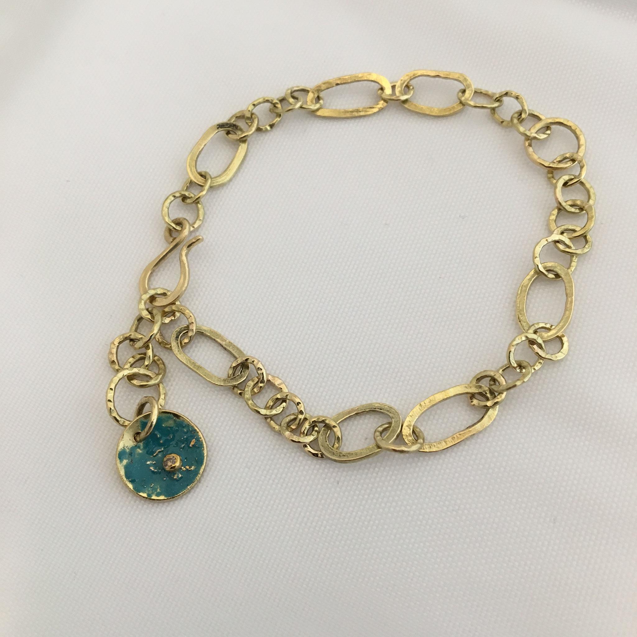 Bracelette, 18k gold, enamel