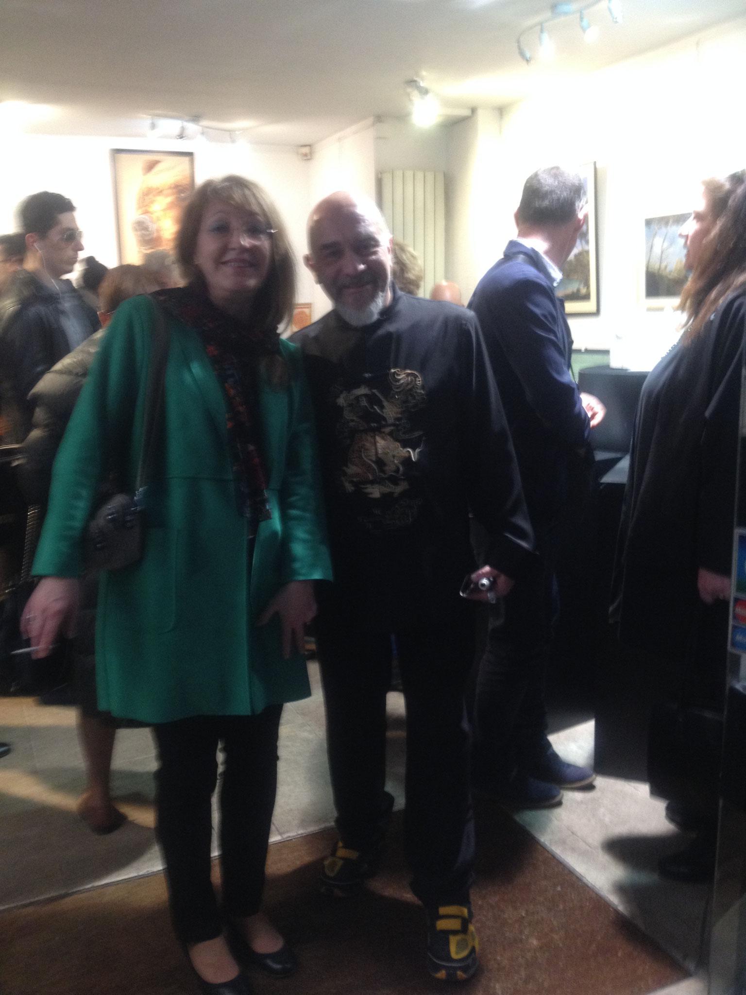 Avec Denis directeur de la Galerie Thuillier