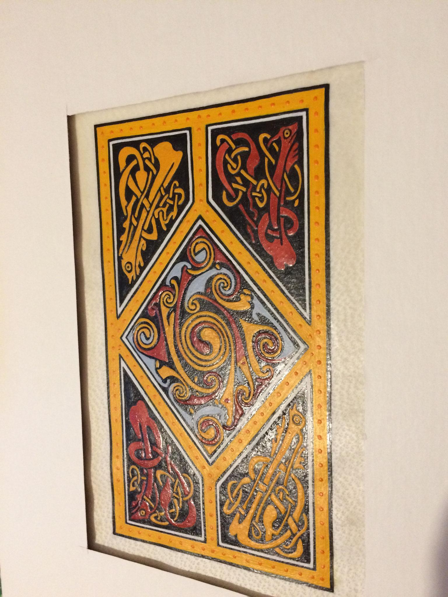 Motif central de la bordure du Saint-Mathieu d'un Evangéliaire irlandais