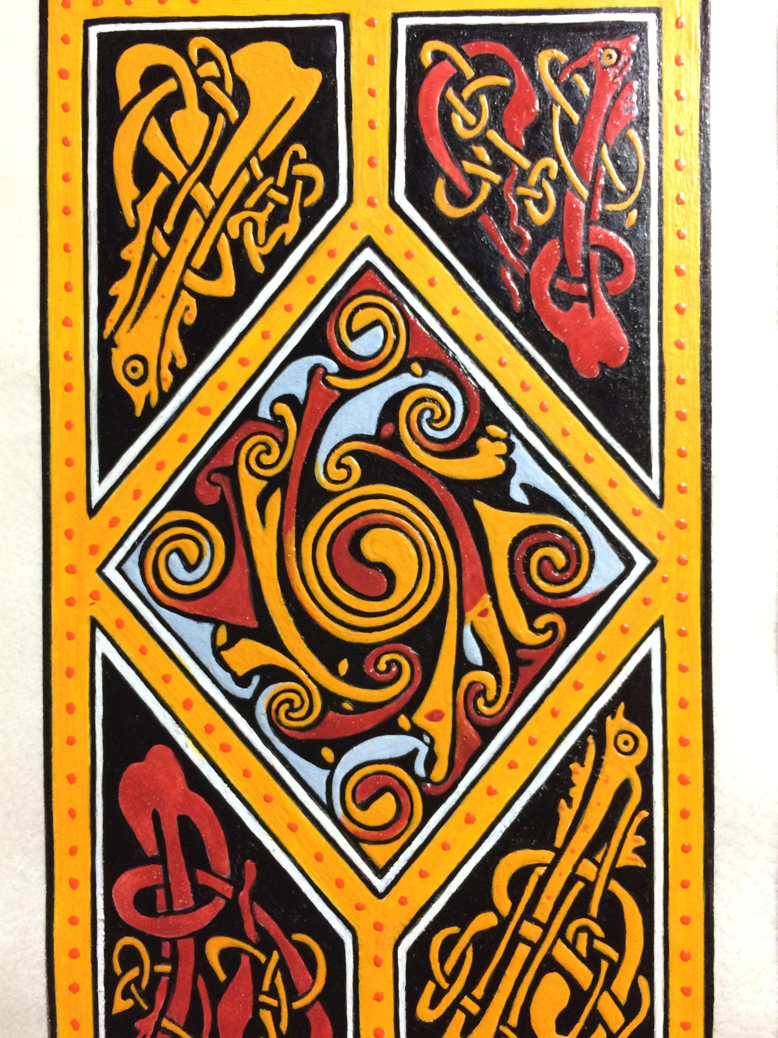 Spirale celtique, Evangéliaire irlandais du VIIIes, Or-et-Caracteres 2020