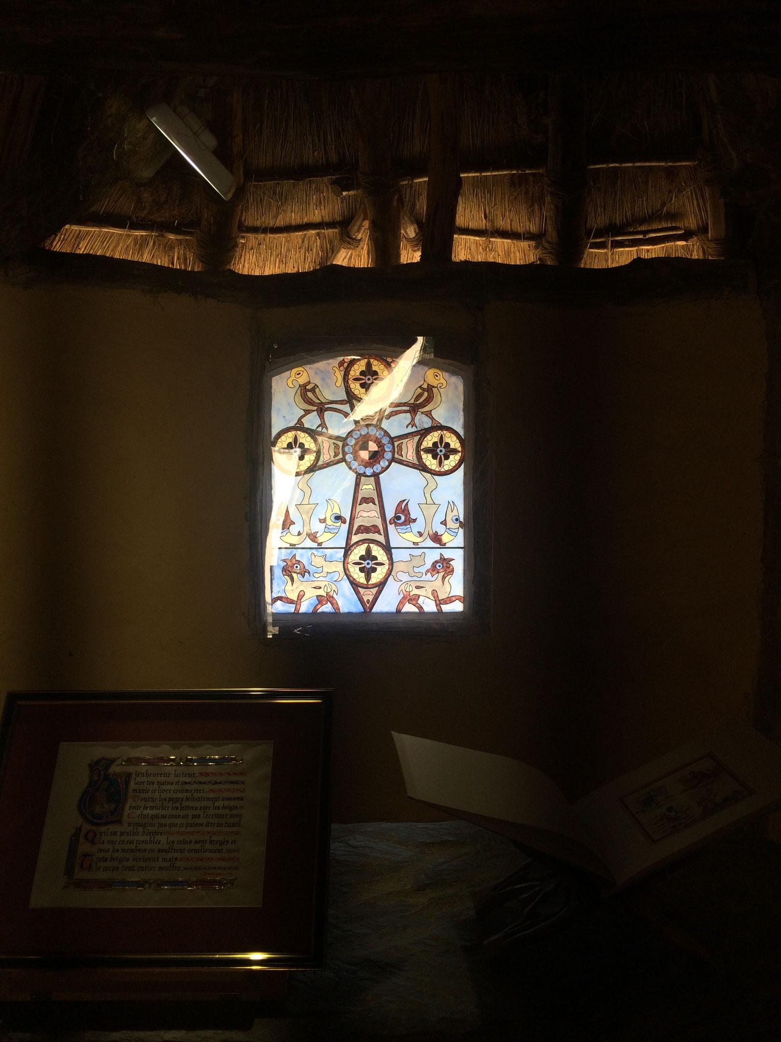 Le vitrail de la Chapelle réalisé par un vitrailliste de la région
