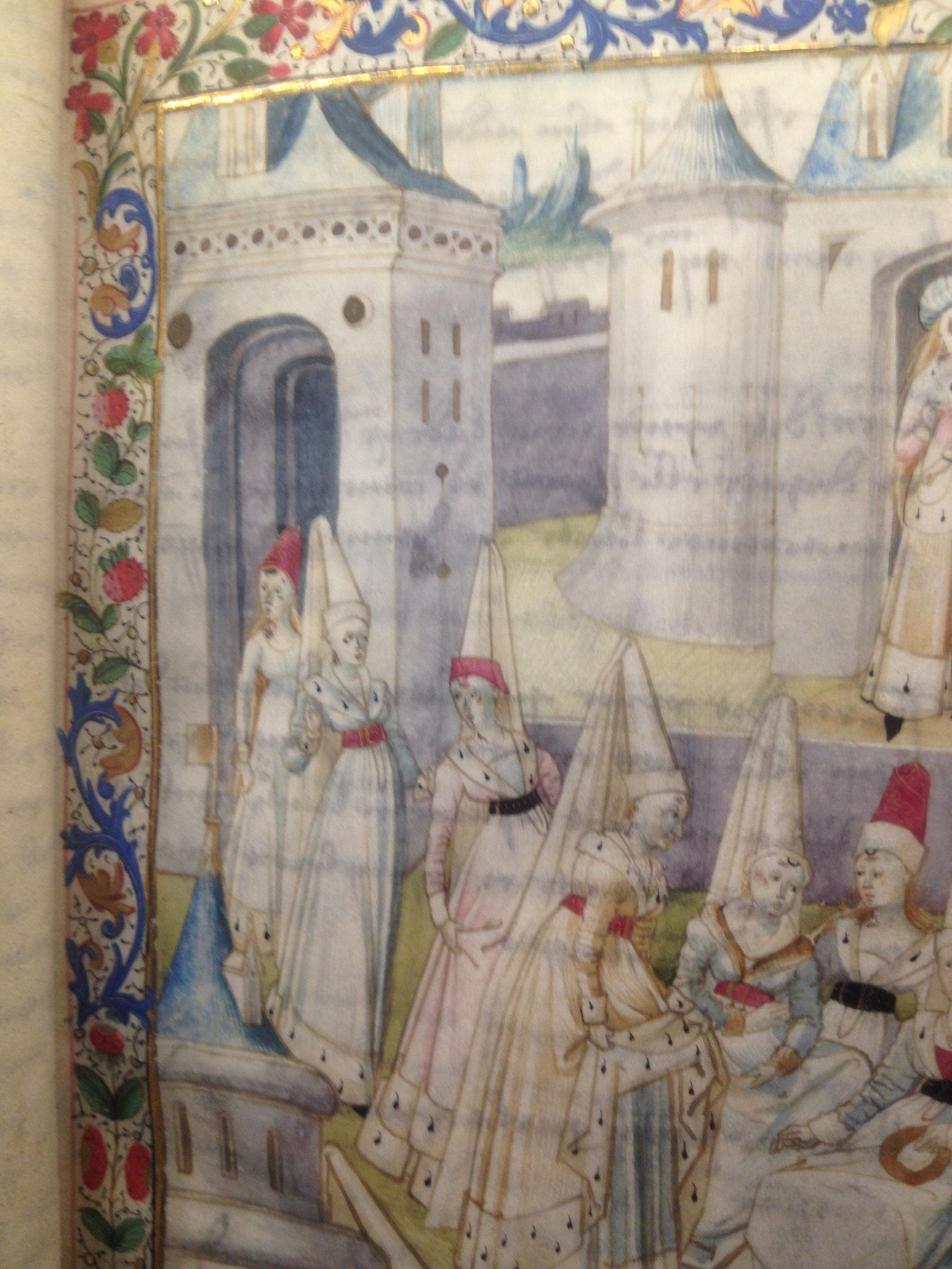 """Détail du frontispice de """"La cité des Dames"""" Christine de Pisan"""