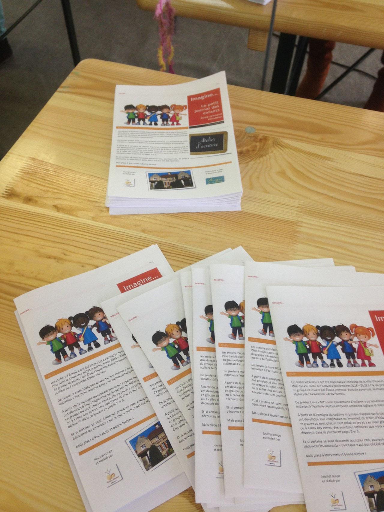 Le petit journal des enfants, atelier d'écriture animé par Élodie Torrente (École élémentaire Vavasseur)
