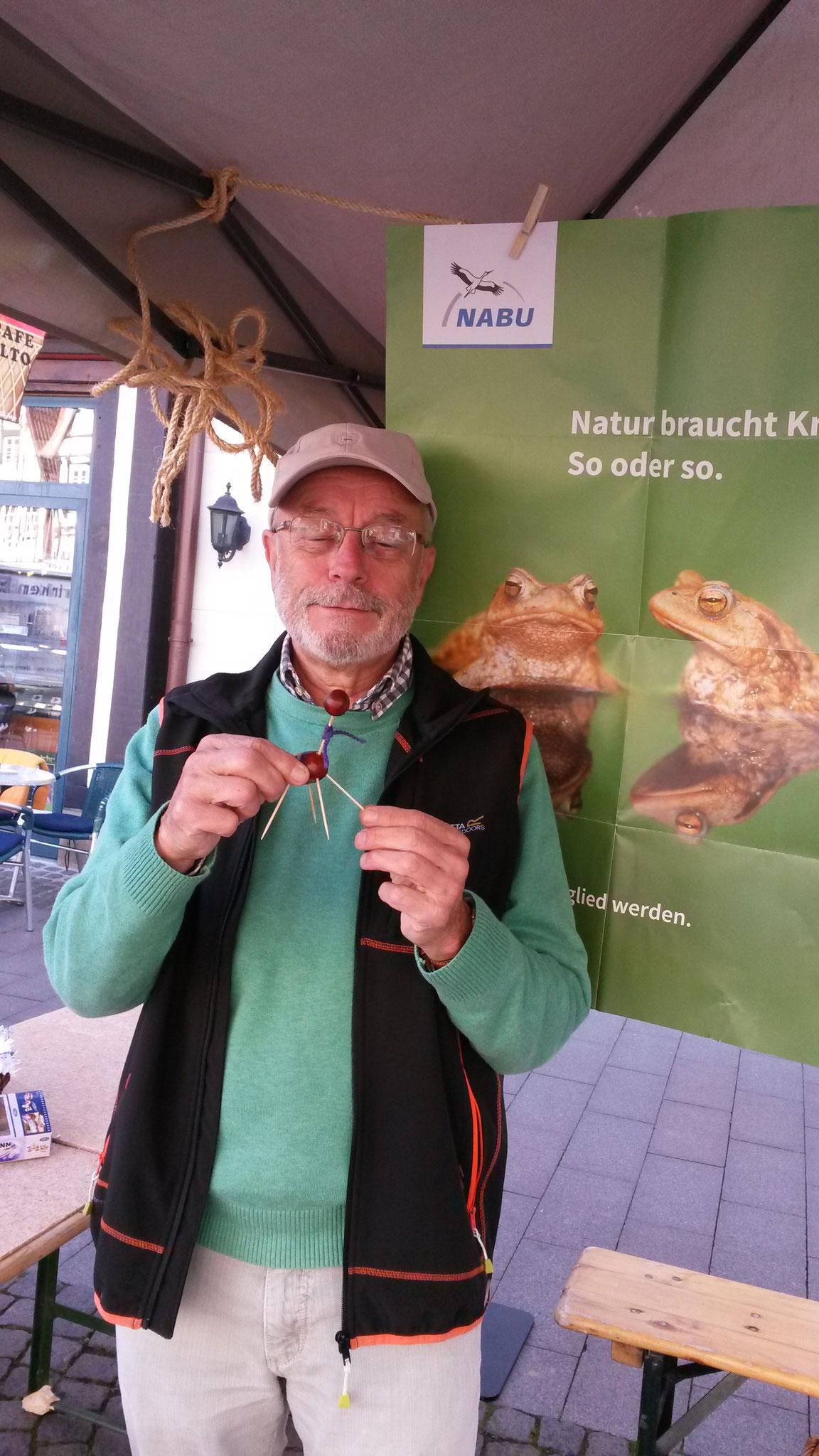 Info-Stand beim NABU-Fest in Rinteln 2019 (Foto: J. Auras)
