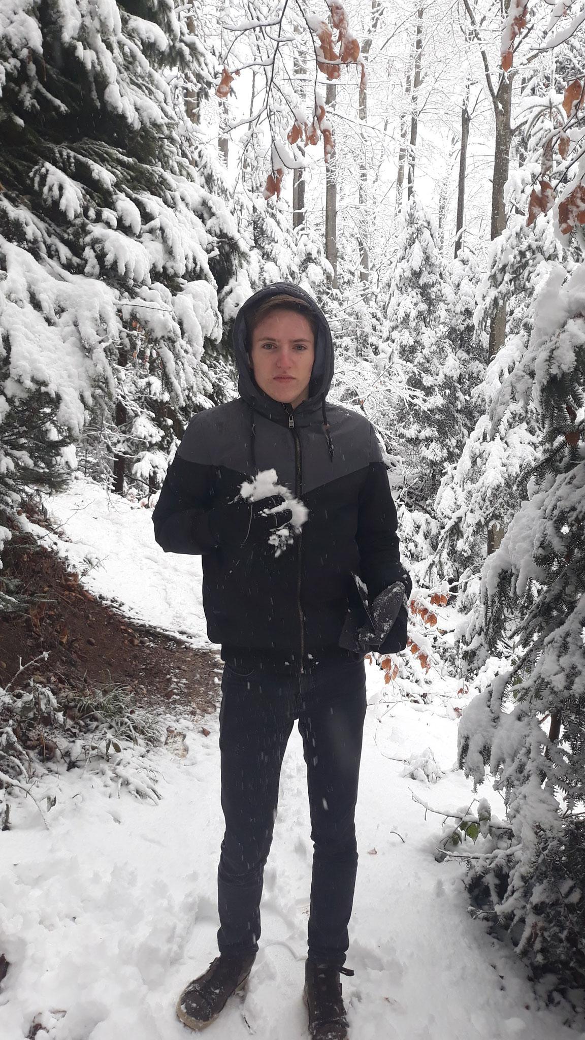 Mit Pascal unterwegs am Schneespaziergang