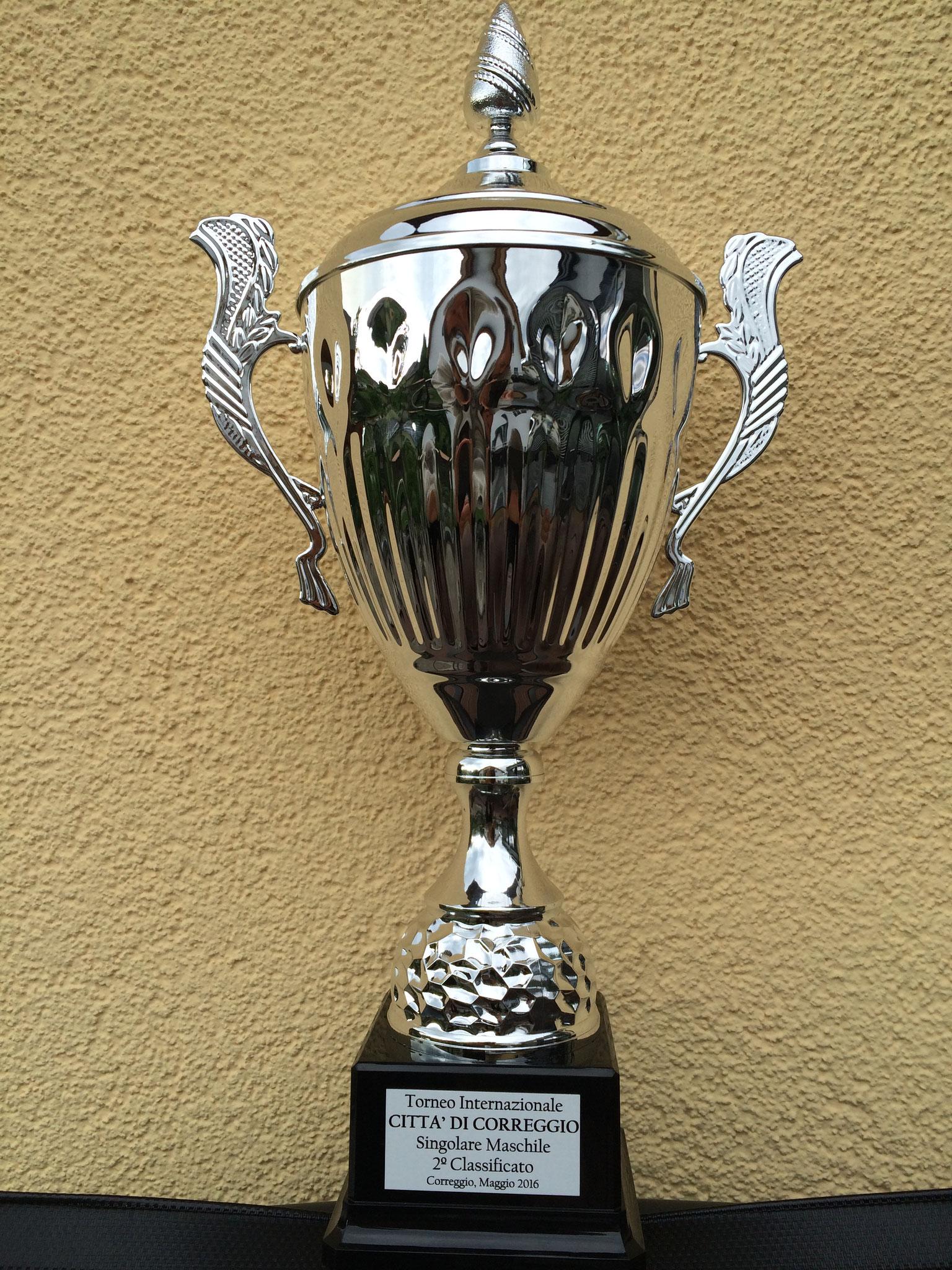 Pokal für den Finalist (Singolare Maschile 2e Classificato)