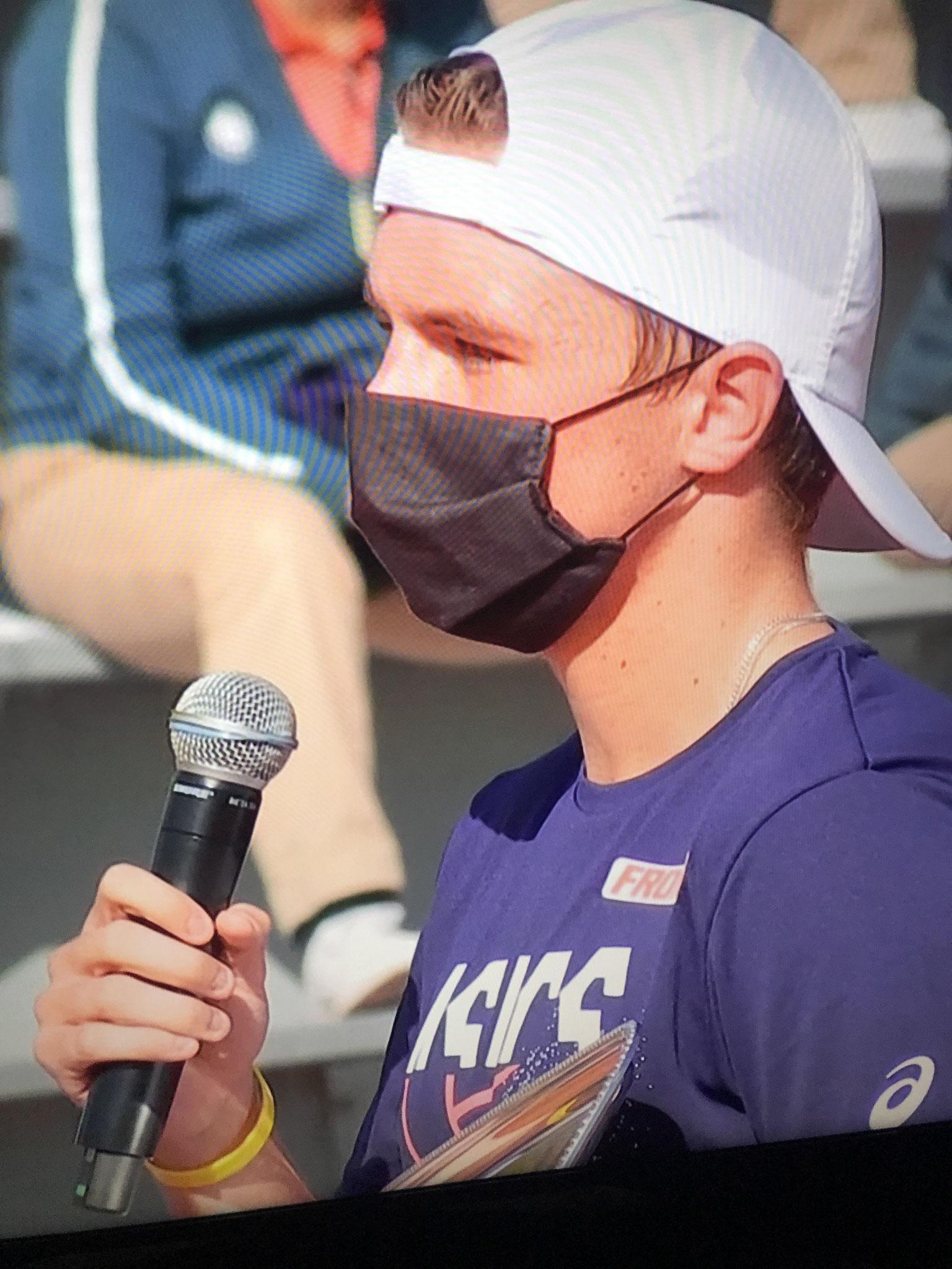 Erstes Interwiev mit Maske
