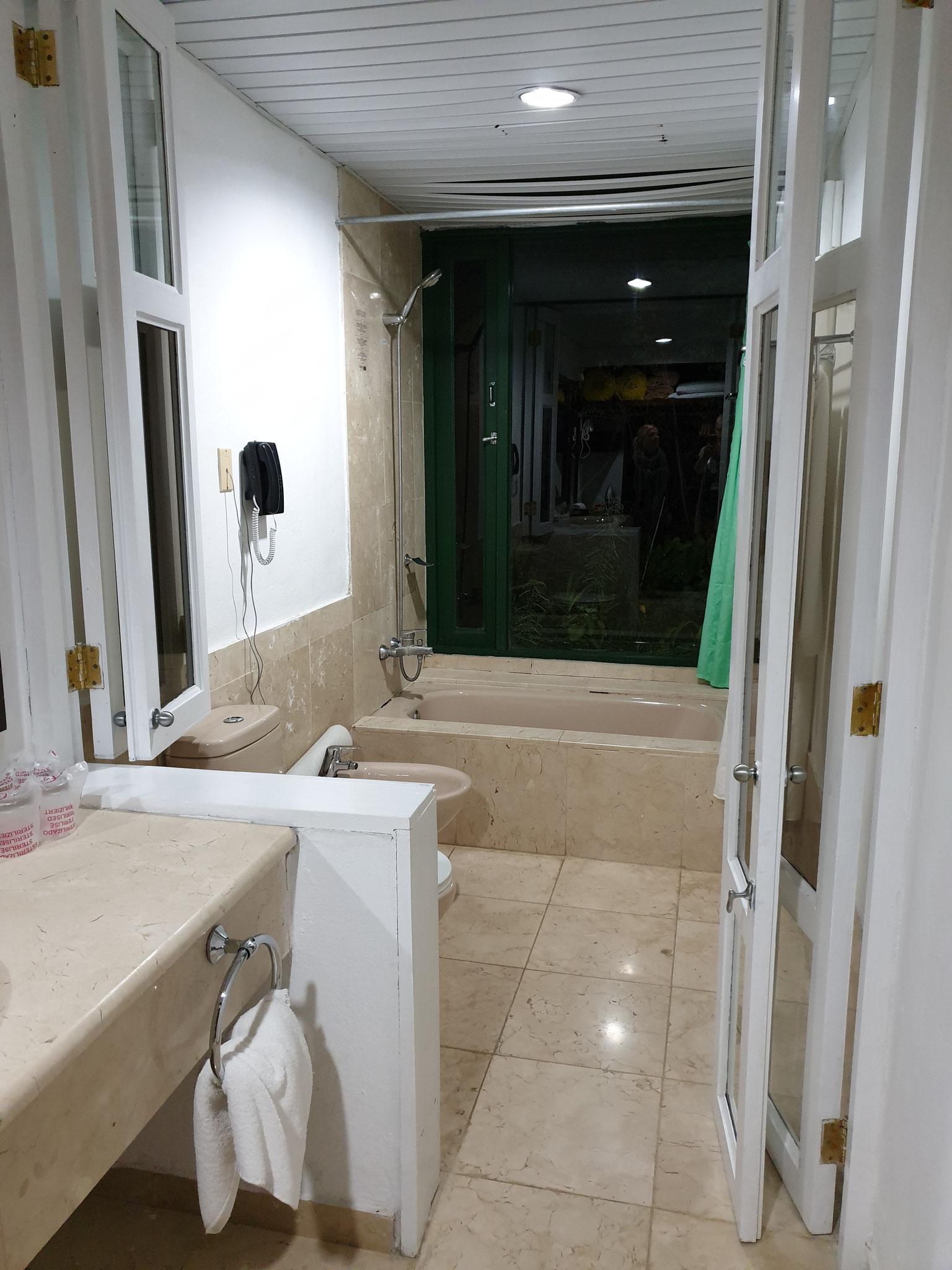 Badezimmer im Hotel Moka