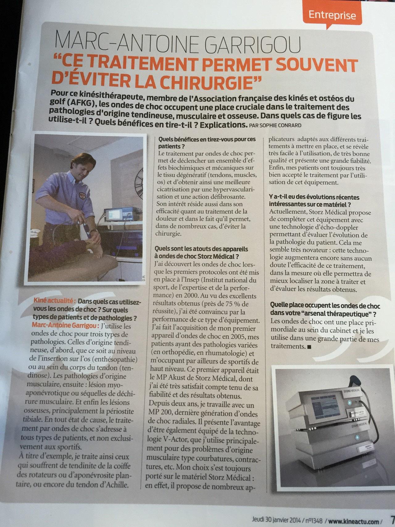 Article paru dans kinéactualité, janvier 2014
