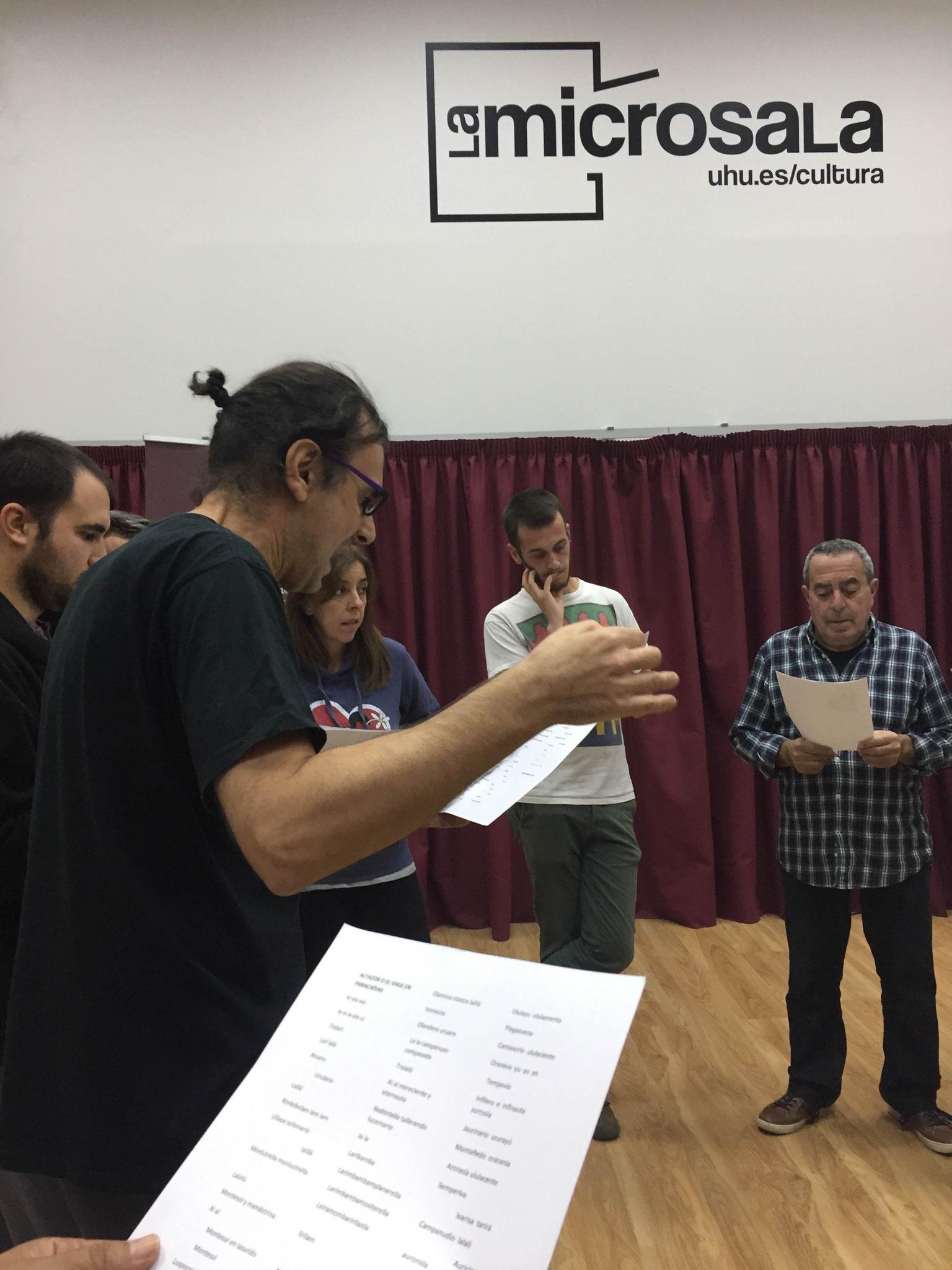 """""""TÉCNICA VOCAL"""" con JAVIER CENTENO. NOVIEMBRE 2017"""
