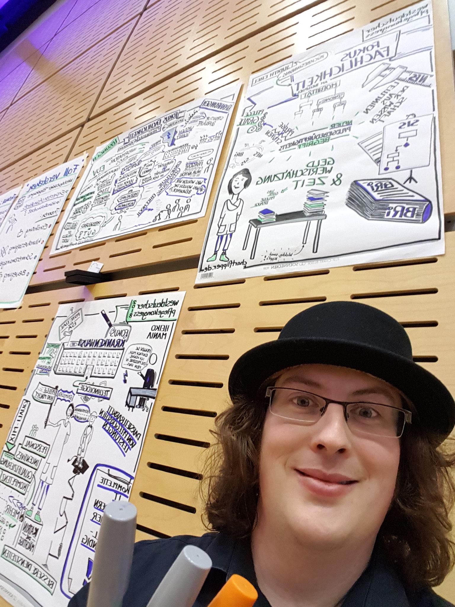 Graphic Recording - ein Erklärbild in Posterform, das live entsteht