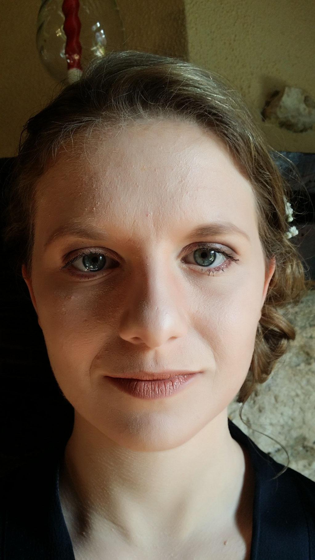 Maquillage mariée en nuances harmonieuses de marron
