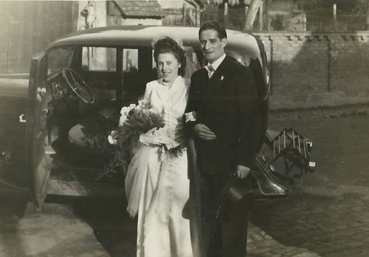Die Hochzeit von Margarethe und Karl Fritz