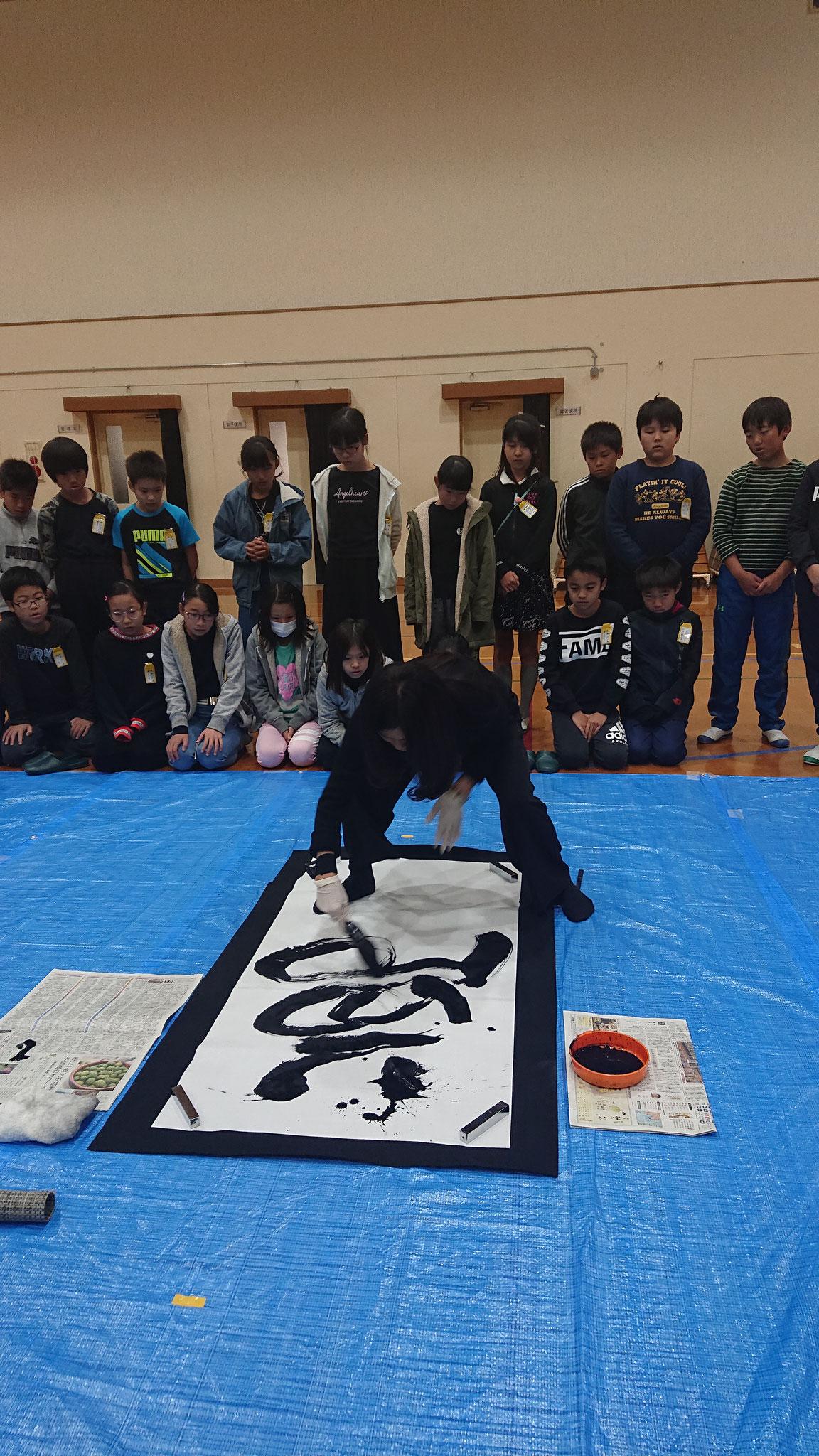 文化芸術特別授業嵐山東小学校