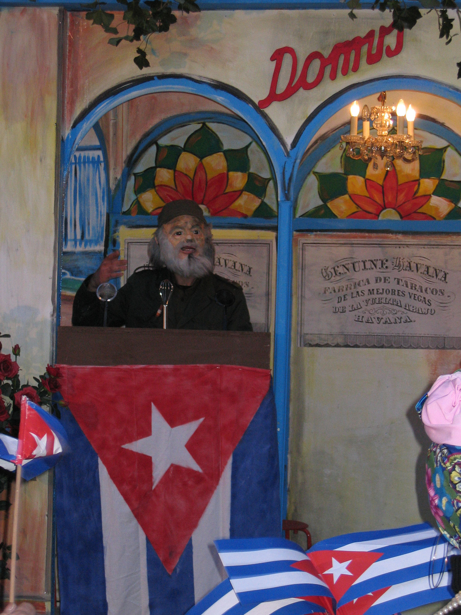 Fasnacht Domus, gemalte Kulisse, Kuba, 2009