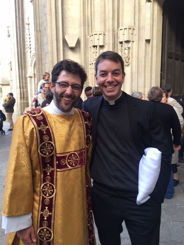 A la fin de la célébration d'ordination.
