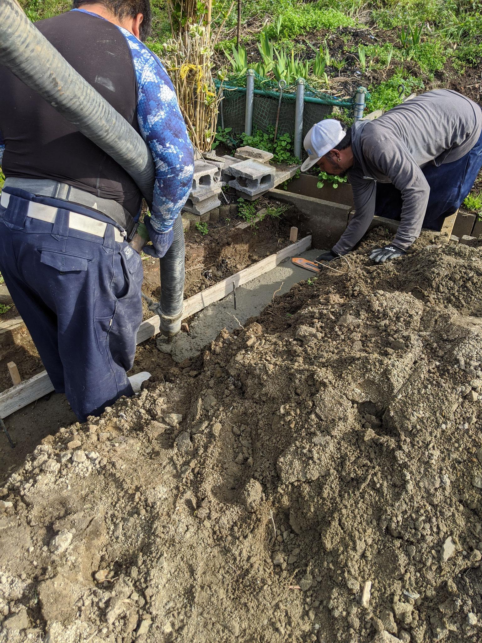 土留め擁壁工事