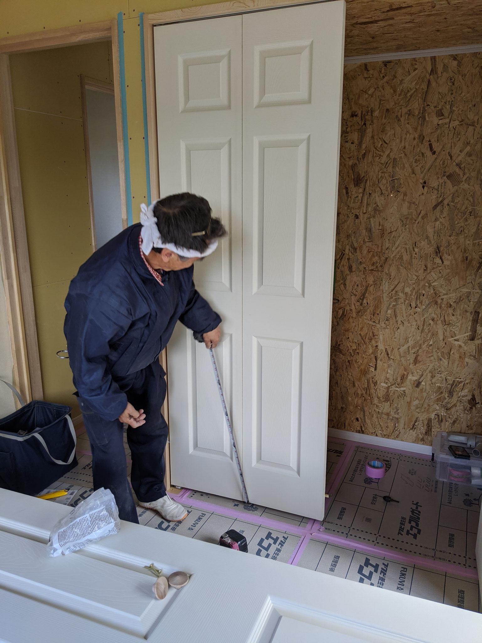 建具吊りこみ工事