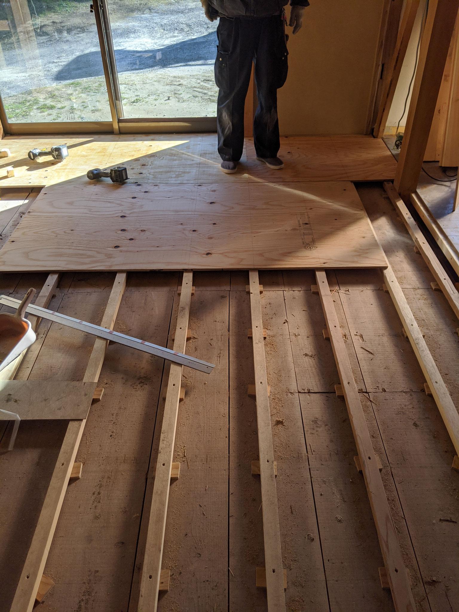 和室の床下工事