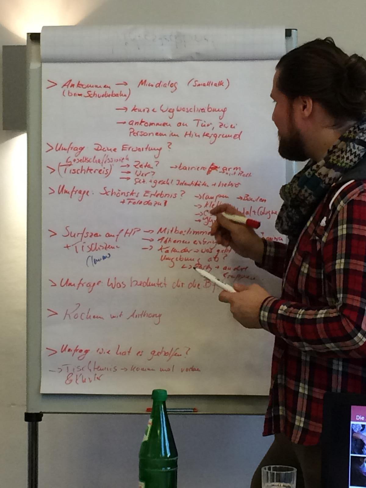Aller Anfang ist bekanntlich schwer, daher haben wir erstmal das Grundkonzept gemeinsam mit Falk erstellt.
