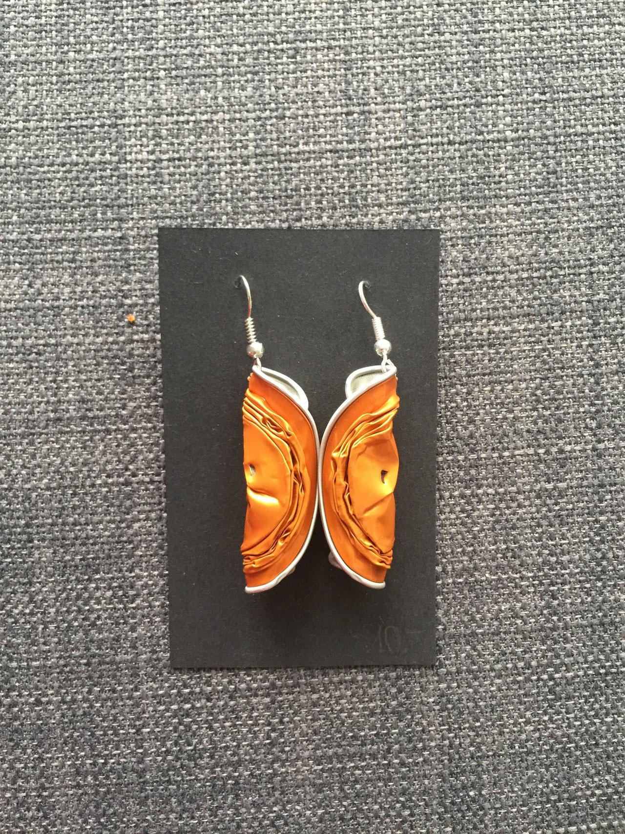 Gedrehte Ohrringe (orange)