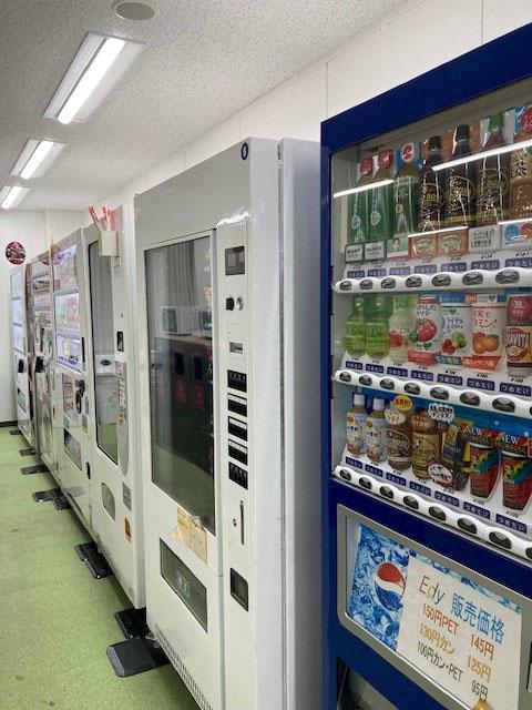 自動販売機の種類豊富