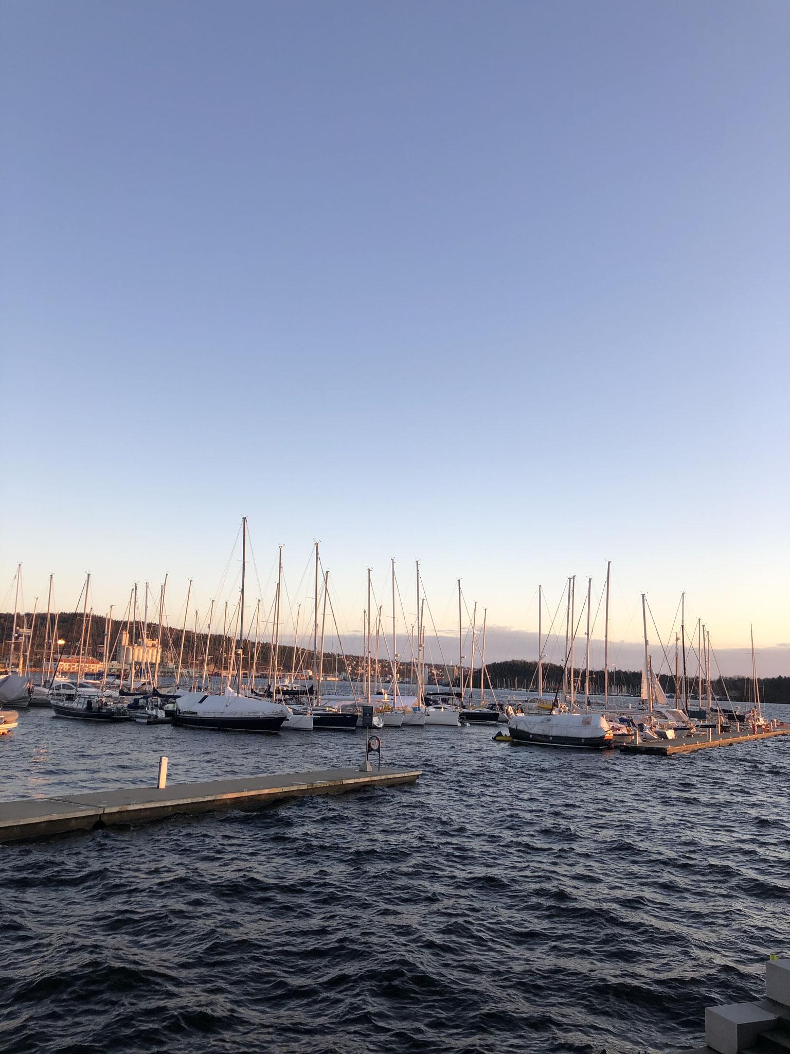 Sonnenuntergang Aker Brygge