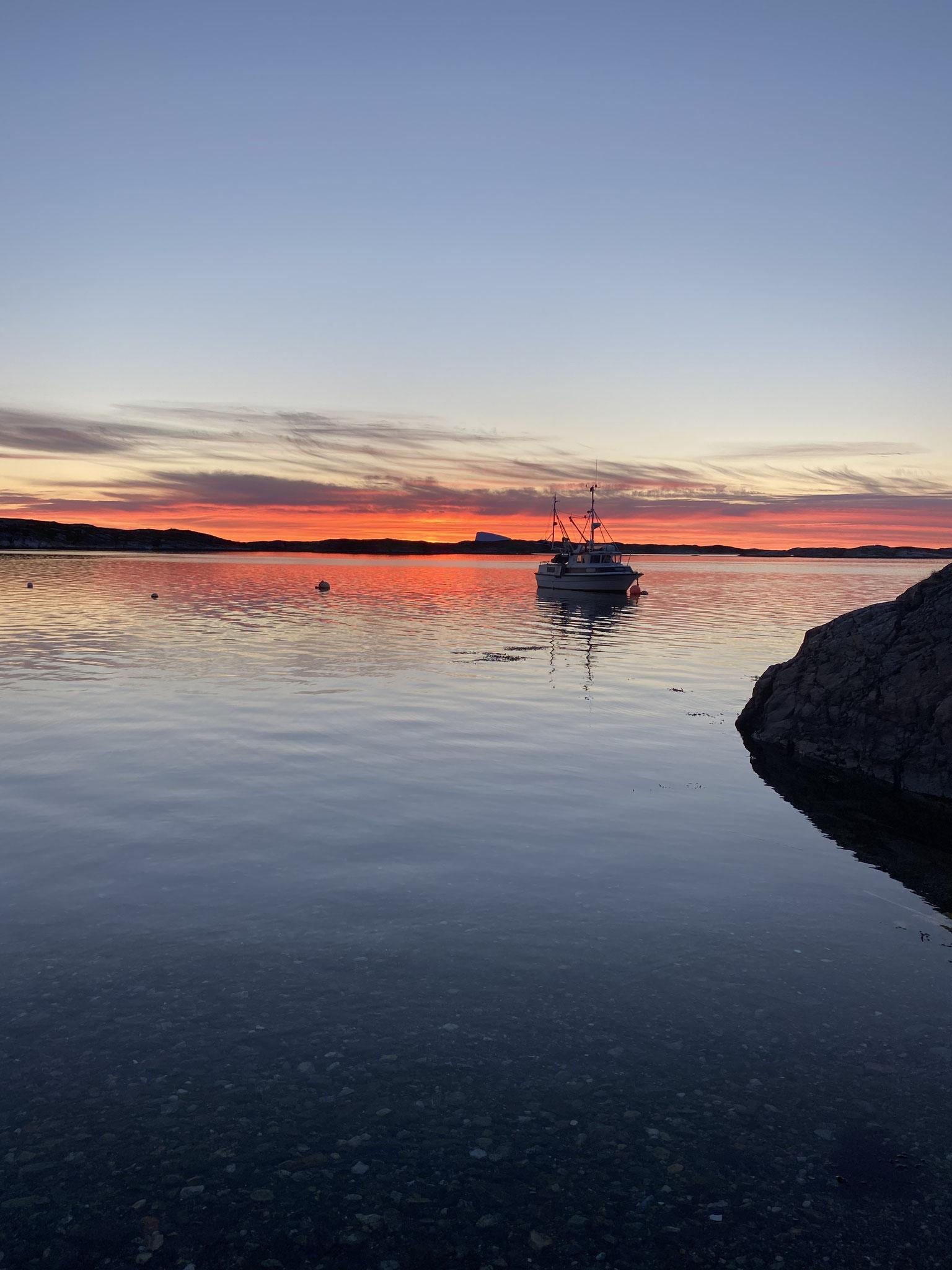 Idyllischer Sonnenuntergang auf Dønna