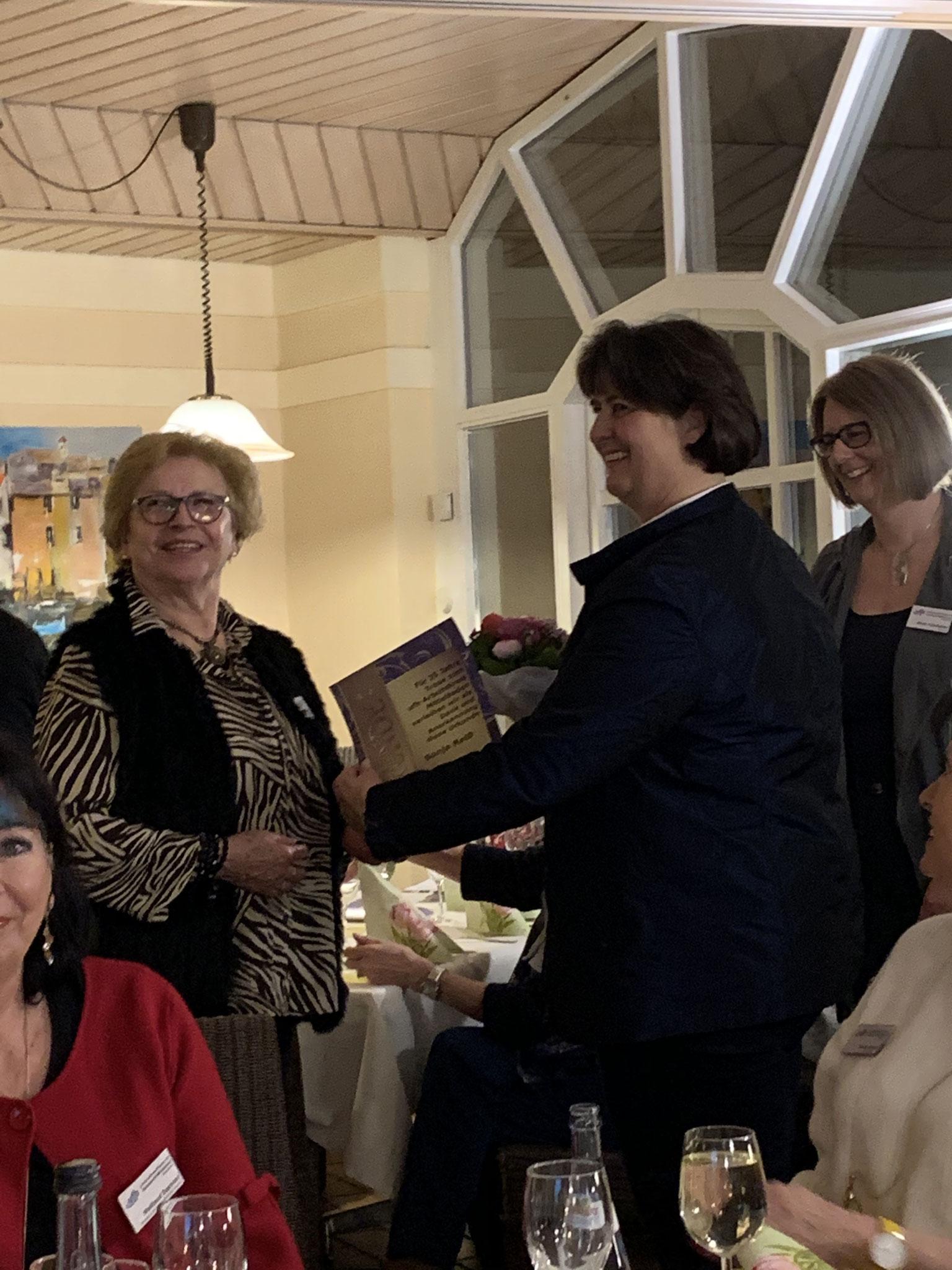01-2020 Ehrung Sonja Reiß für 35 Jahre Mitgliedschaft