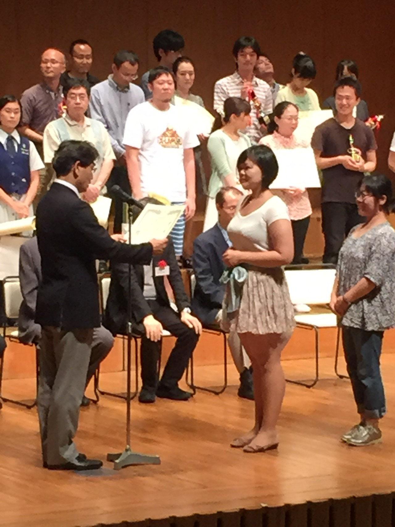 15年合唱コンクール神奈川県大会の表彰式