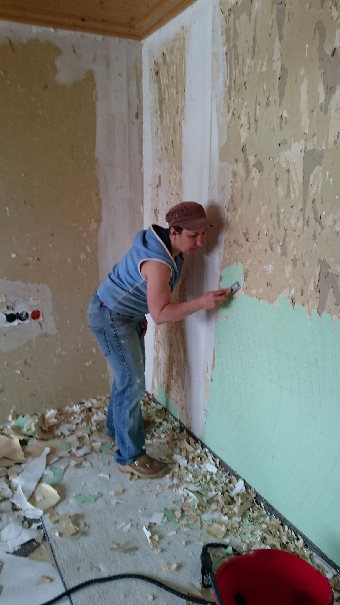 Michi auf der Baustelle