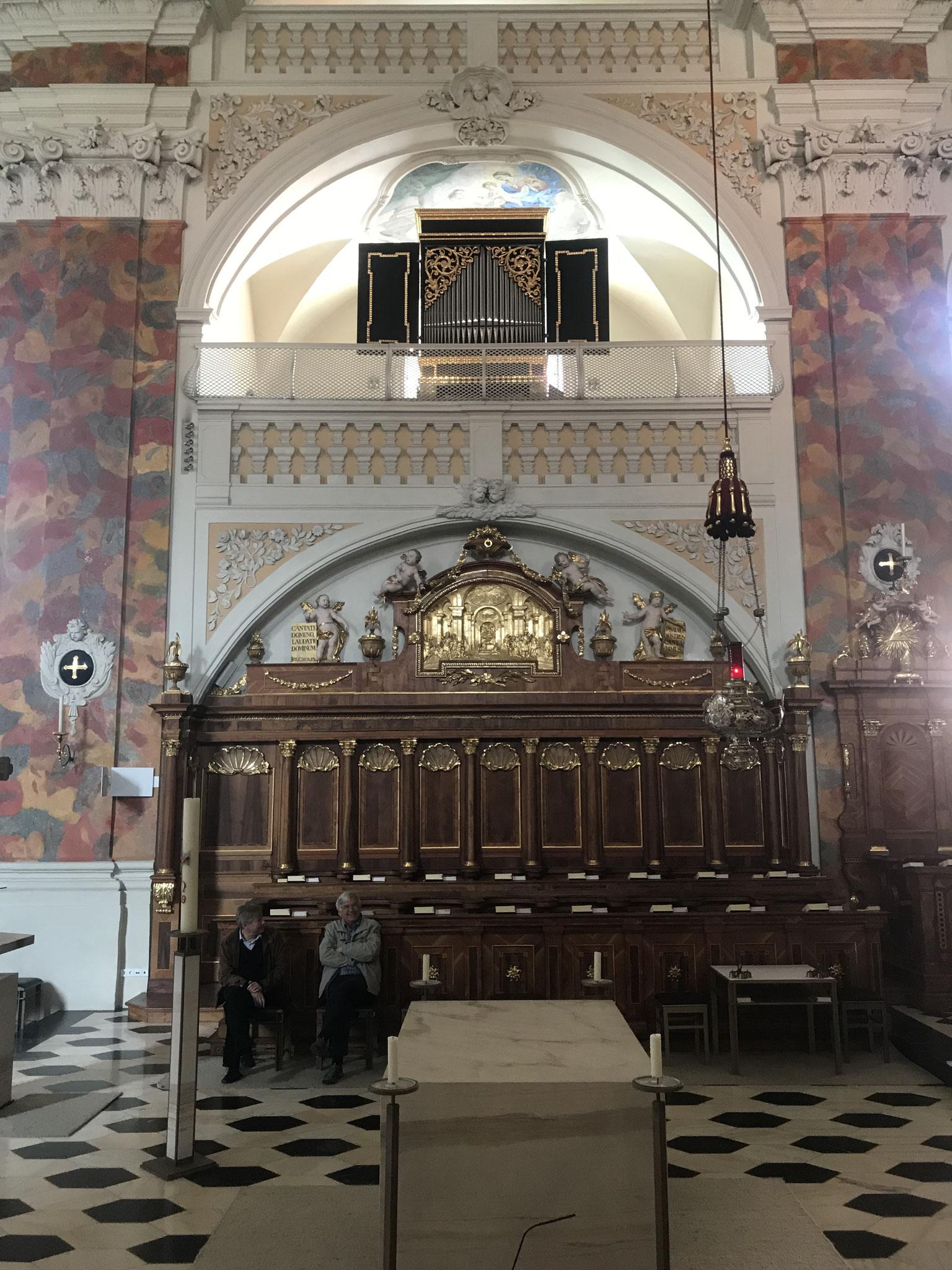 Hertz-Orgel 1670 in der Stiftsbasilika Wilten