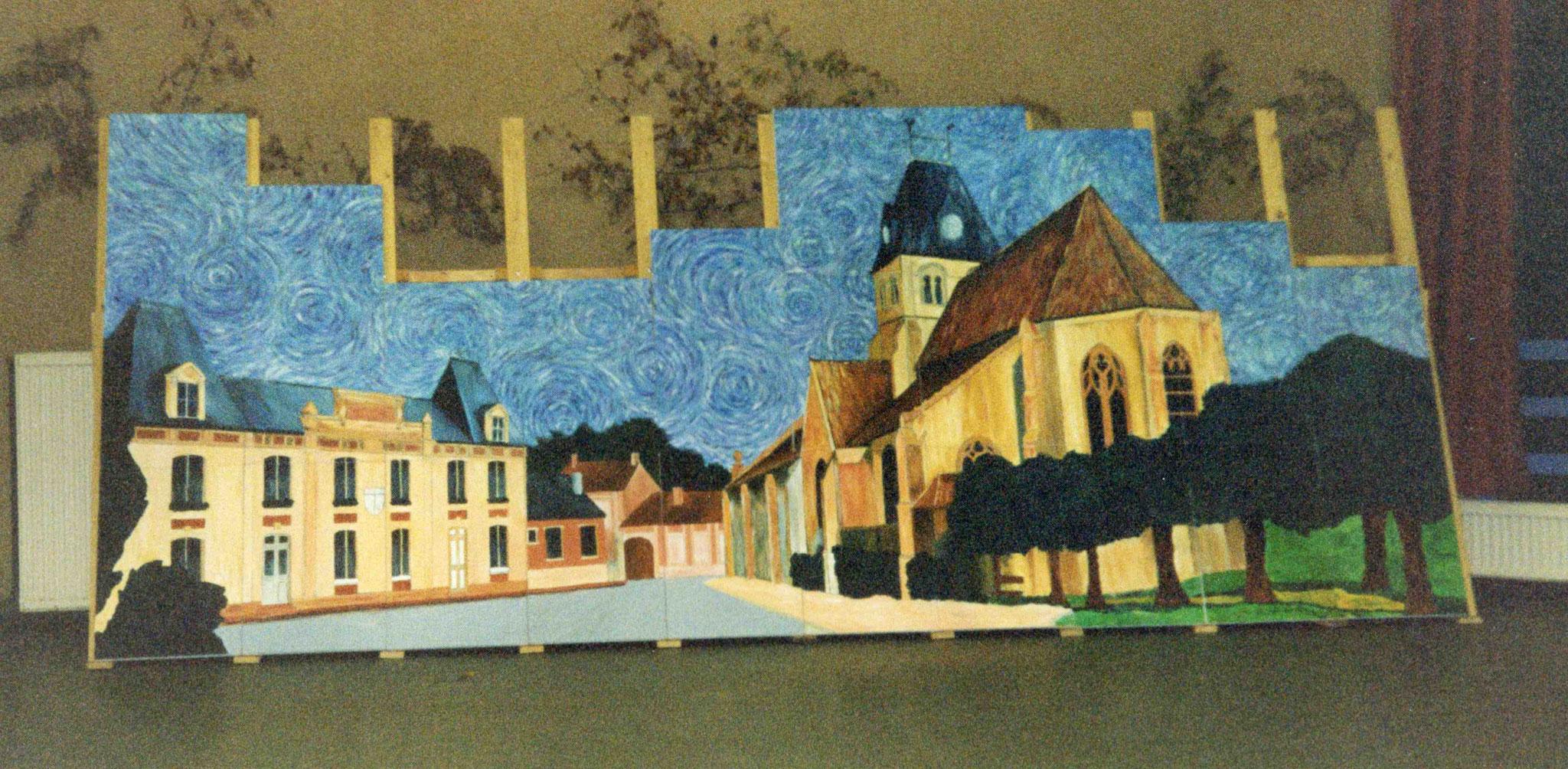 Première présentation de la fresque dans sa totalité