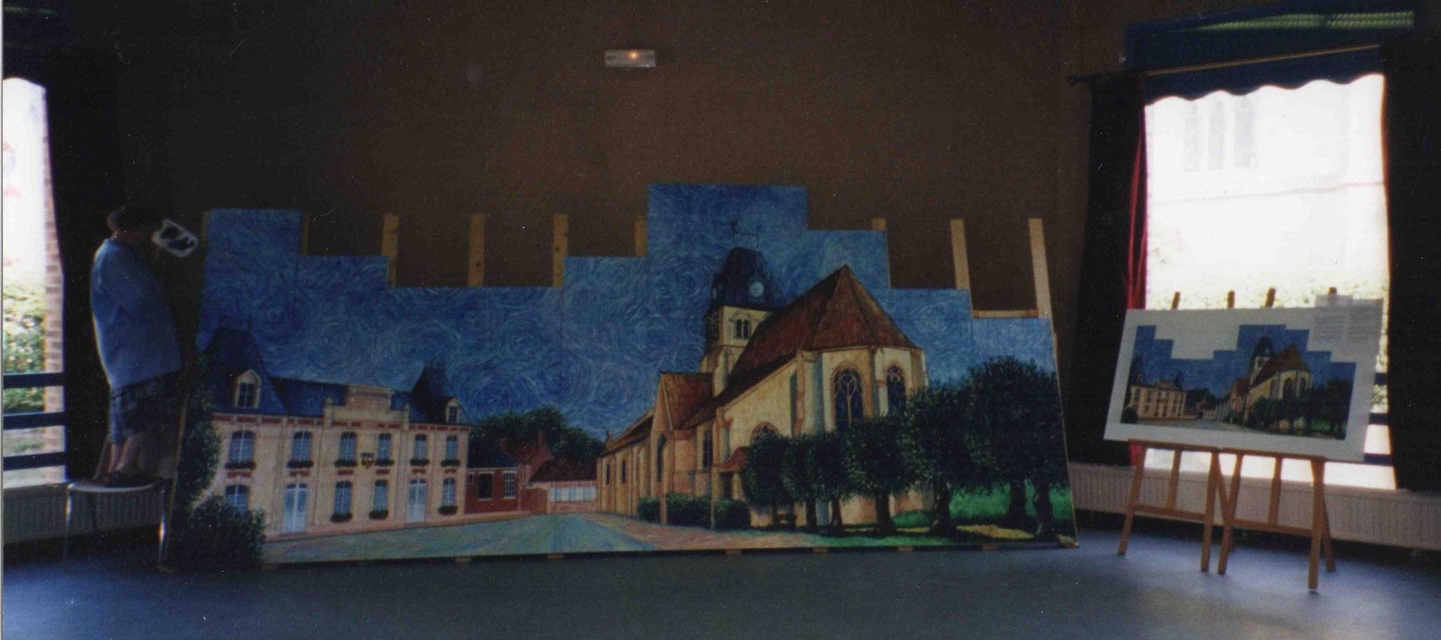 Quatrième mise en couleur avec une deuxième présentation de la fresque dans sa totalité