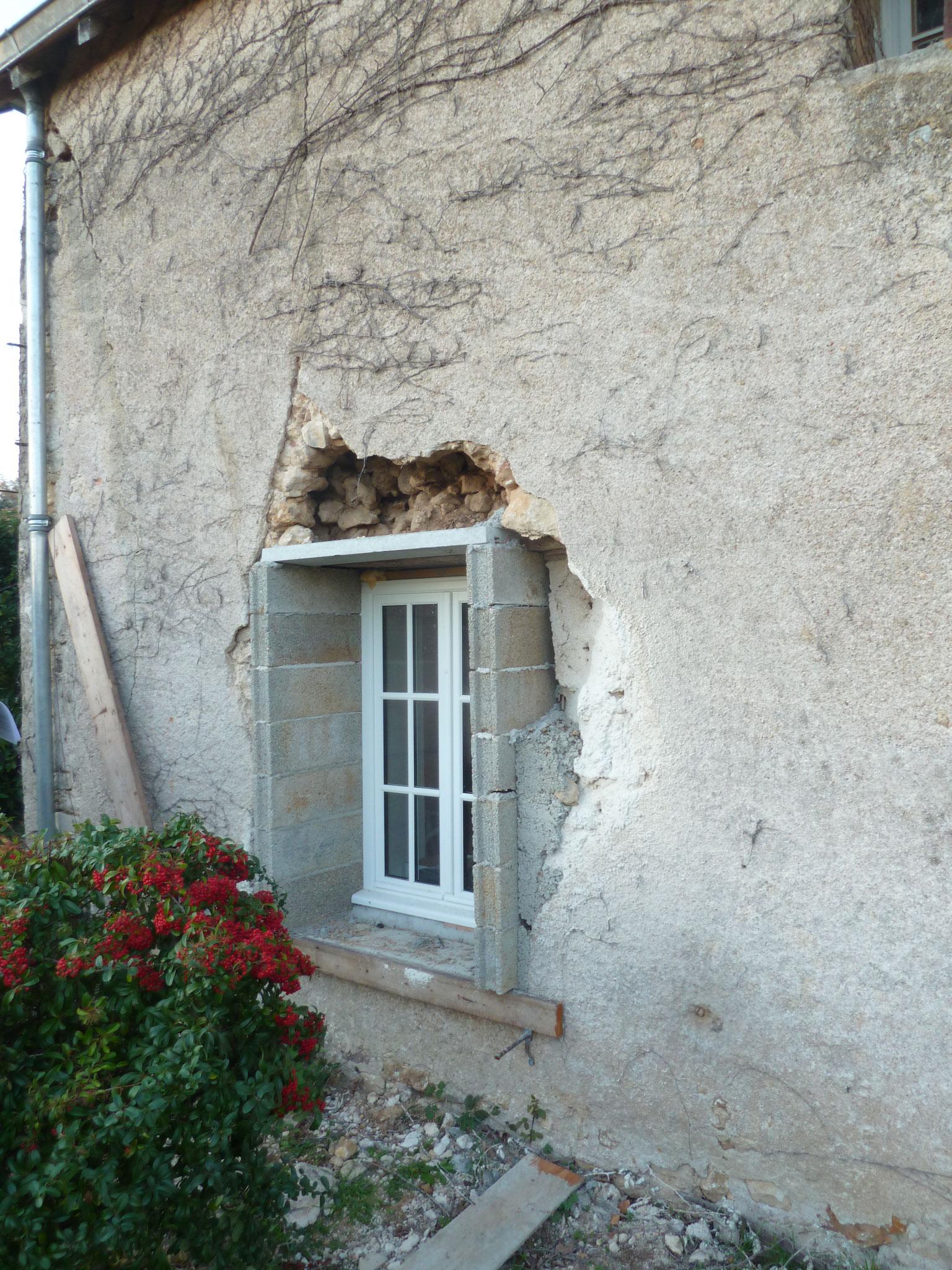 Fenêtre avant restauration