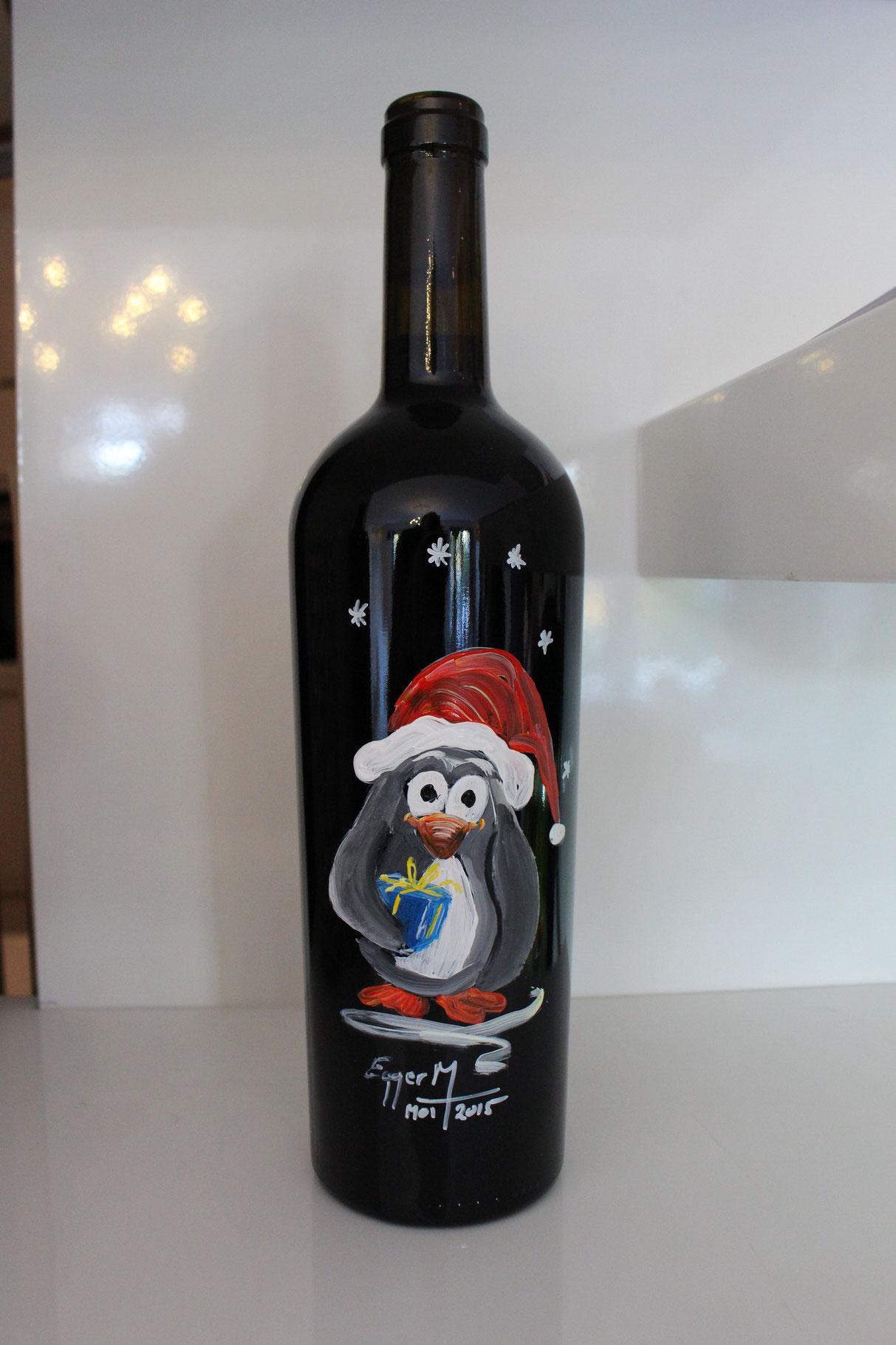 ...Pinguin - Paul mit Geschenk